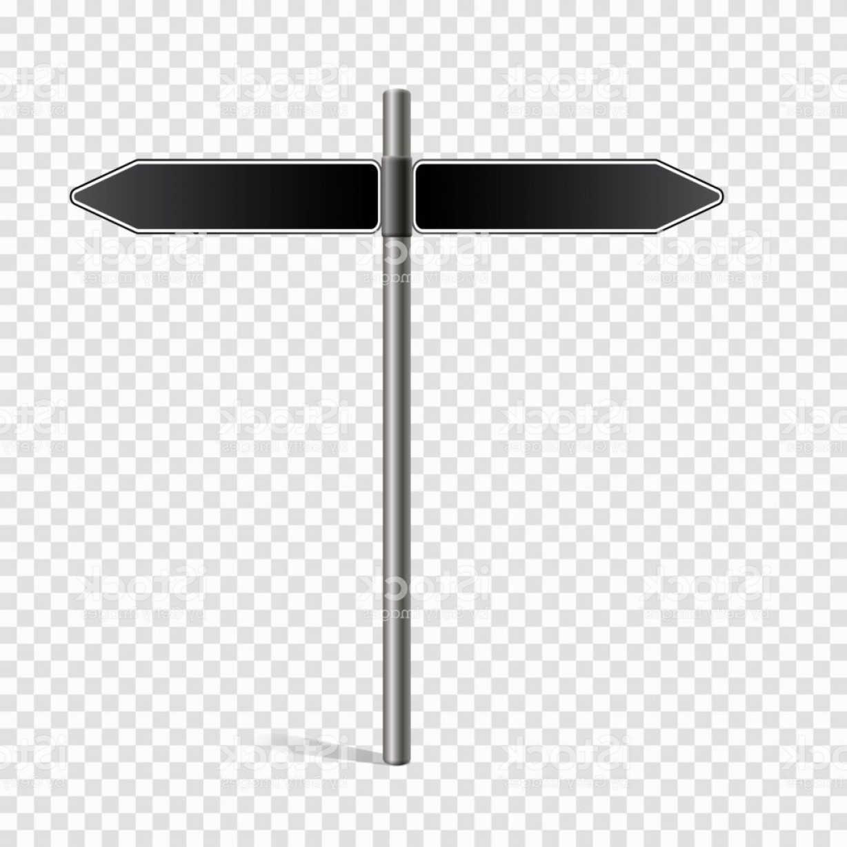 Vector Pole: Vector Pole Sign Road Blank Isolated Gm