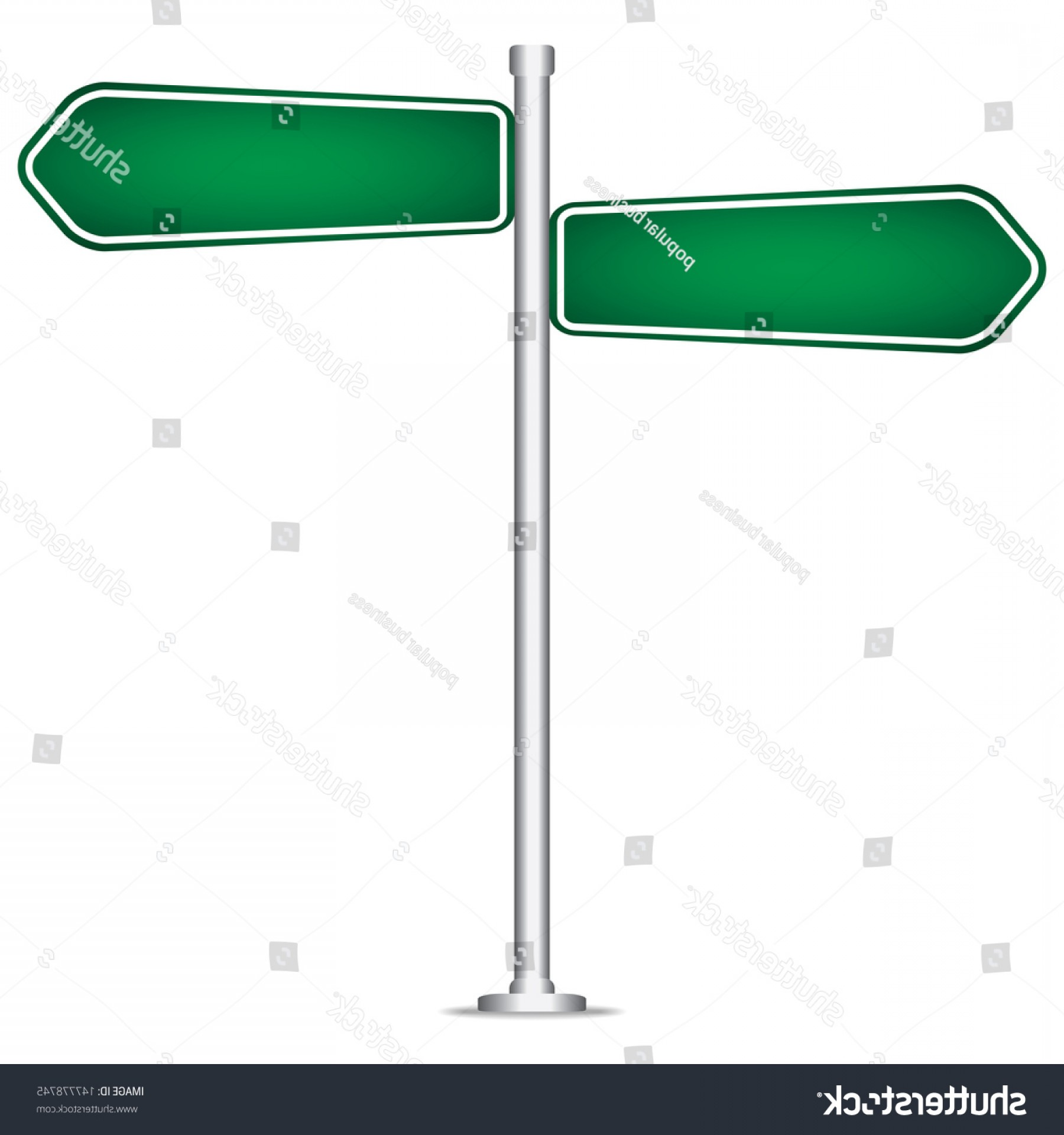 Vector Pole: Vector Pole Sign Road Blank Isolated