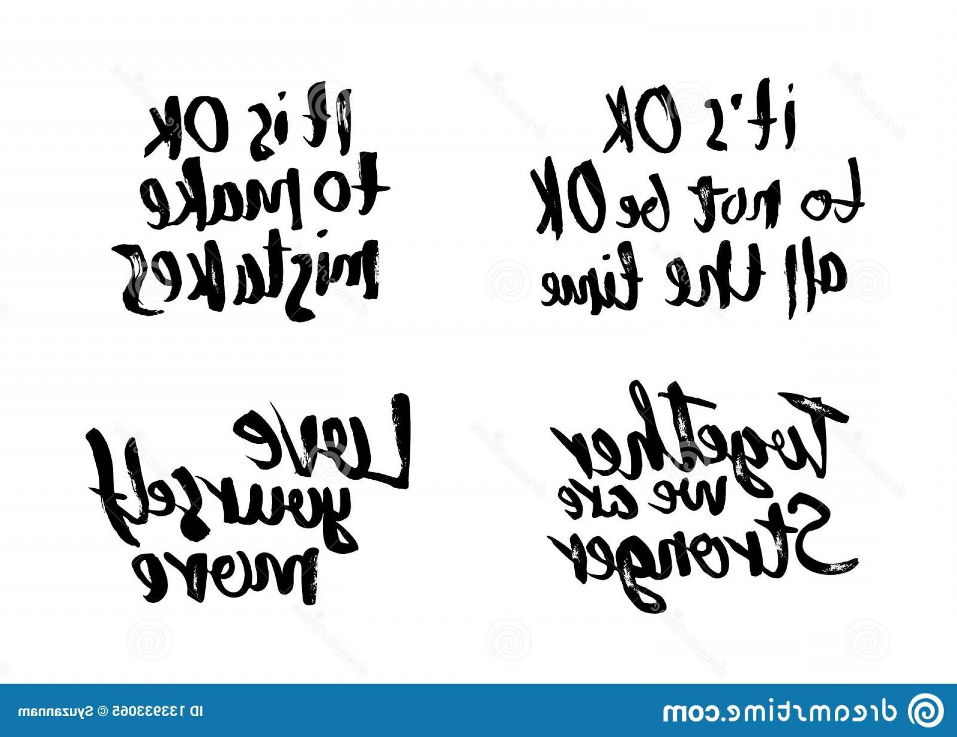 Vector Quotes: Vector Quotes Love Yourself More Love Yourself More S Ok To Not Be All Time S Ok To Make Mistakes Together Image