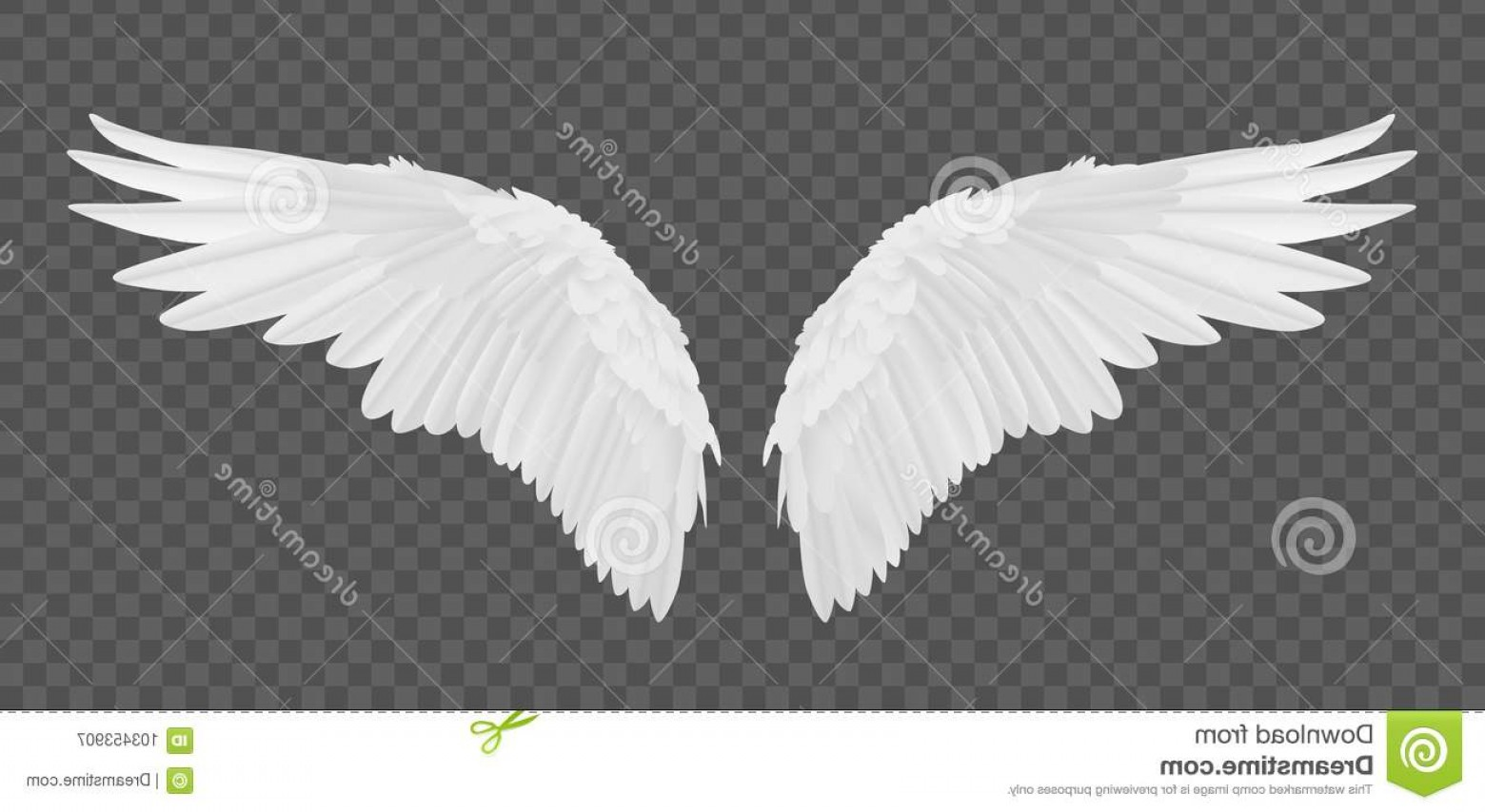 Torn Angel Wings Vector: Vector Realistic Angel Wings Isolated Transparent Background Vector Realistic Angel Wings Isolated Transparent Background Image