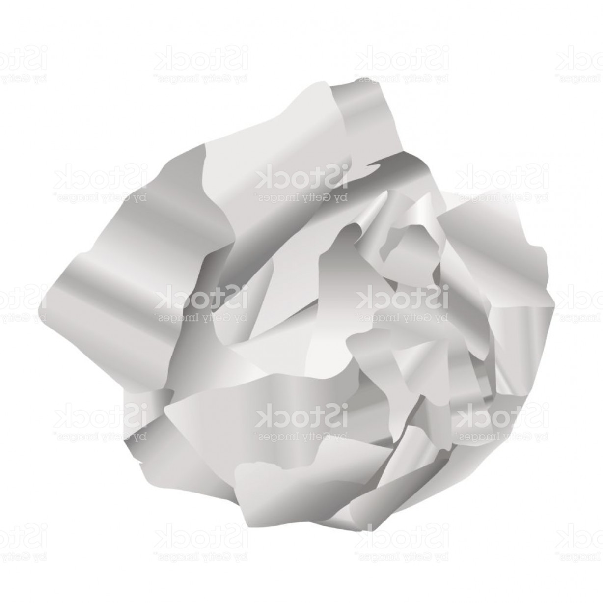 Crinkled Paper Vector: Vector Realistic Crumpled Paper Isolated On White Background Gm