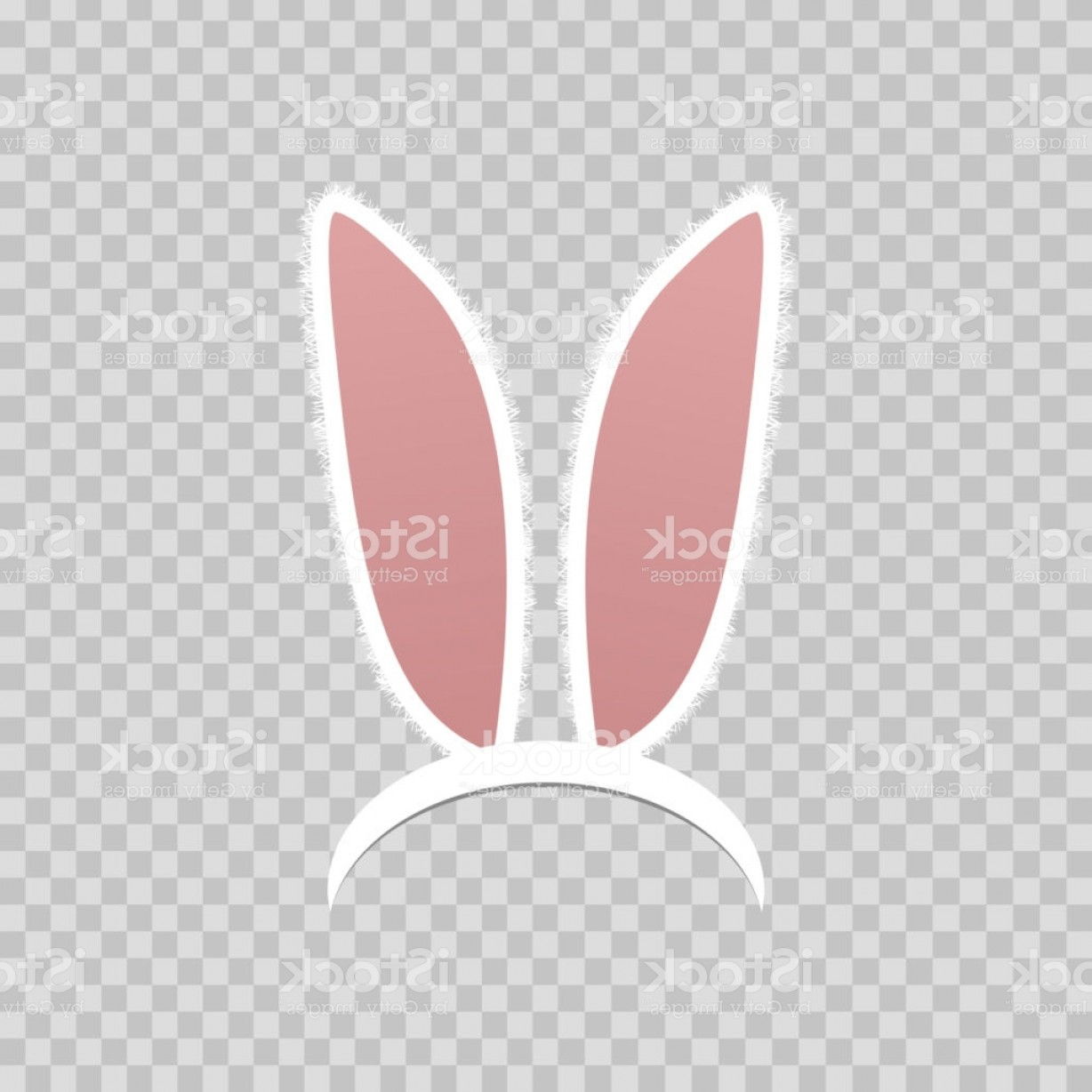 Vector RabbitEars: Vector Realistic Isolated Rabbit Ears For Photo Decoration And Covering On The Gm