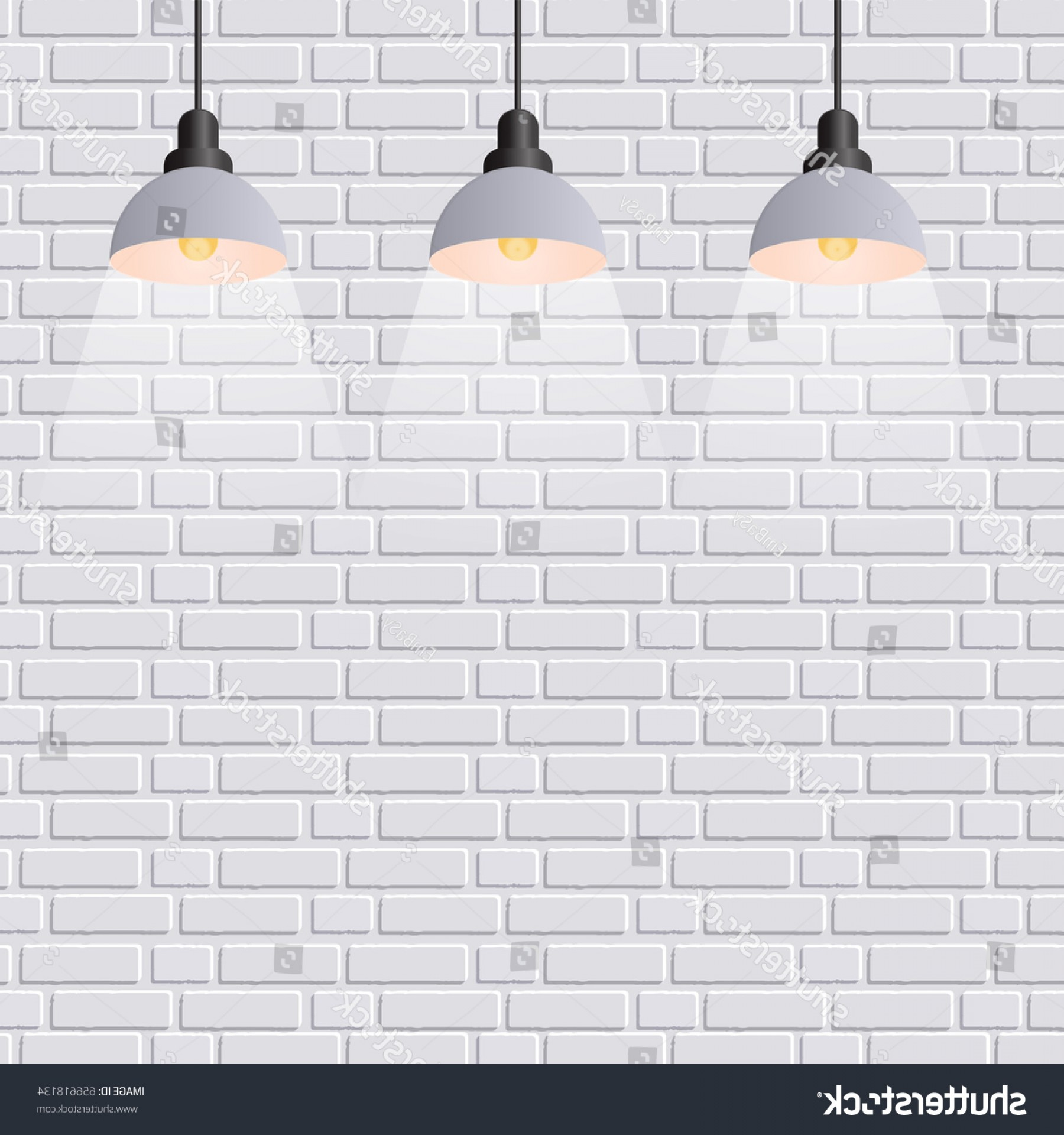 Vector Spotlight 3 Million: Vector Scene Illuminated Spotlight Gray Bricks