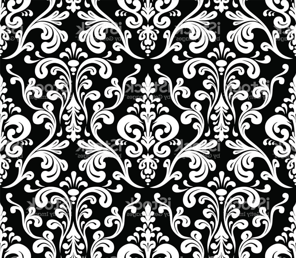 Damask Background Vector Art: Vector Seamless Elegant Damask Pattern Gm