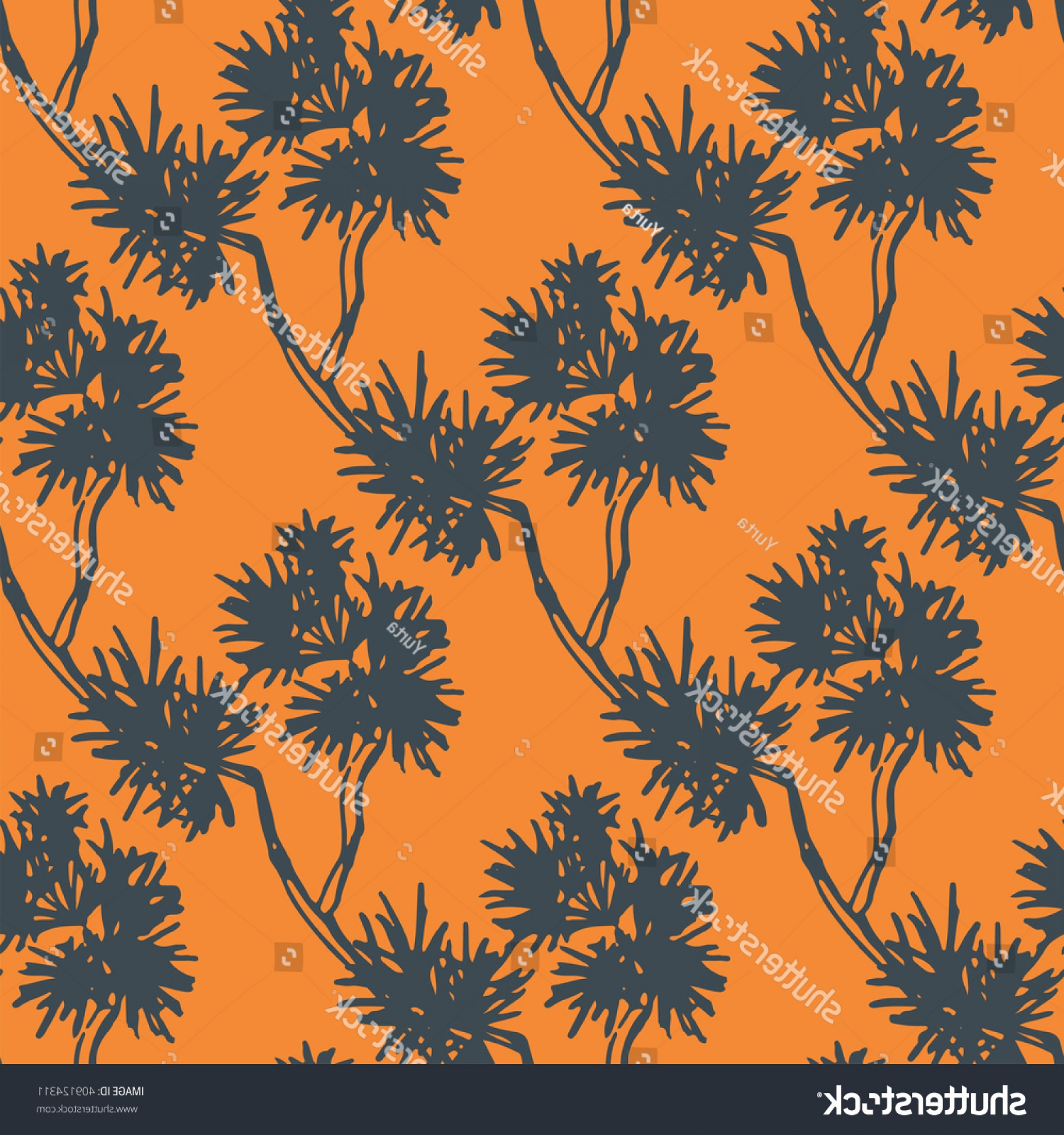 Vector Group Of Hands Overlapped: Vector Seamless Pattern Hand Drawn Pine