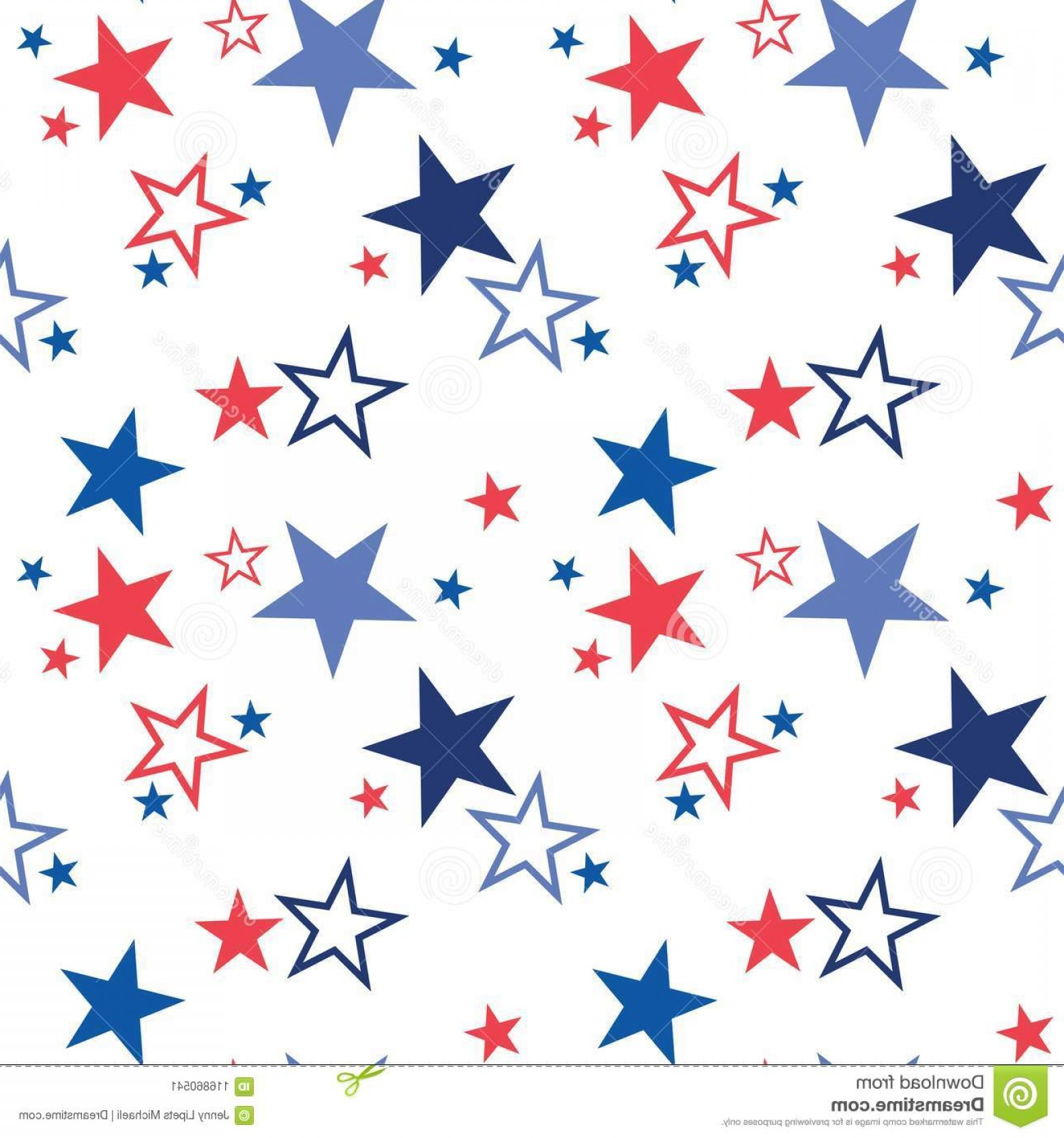 American Flag Stars Only Vector: Vector Seamless Pattern Patriotic Stars National Colors United States American Flag Stars Stripes Use Vector Image