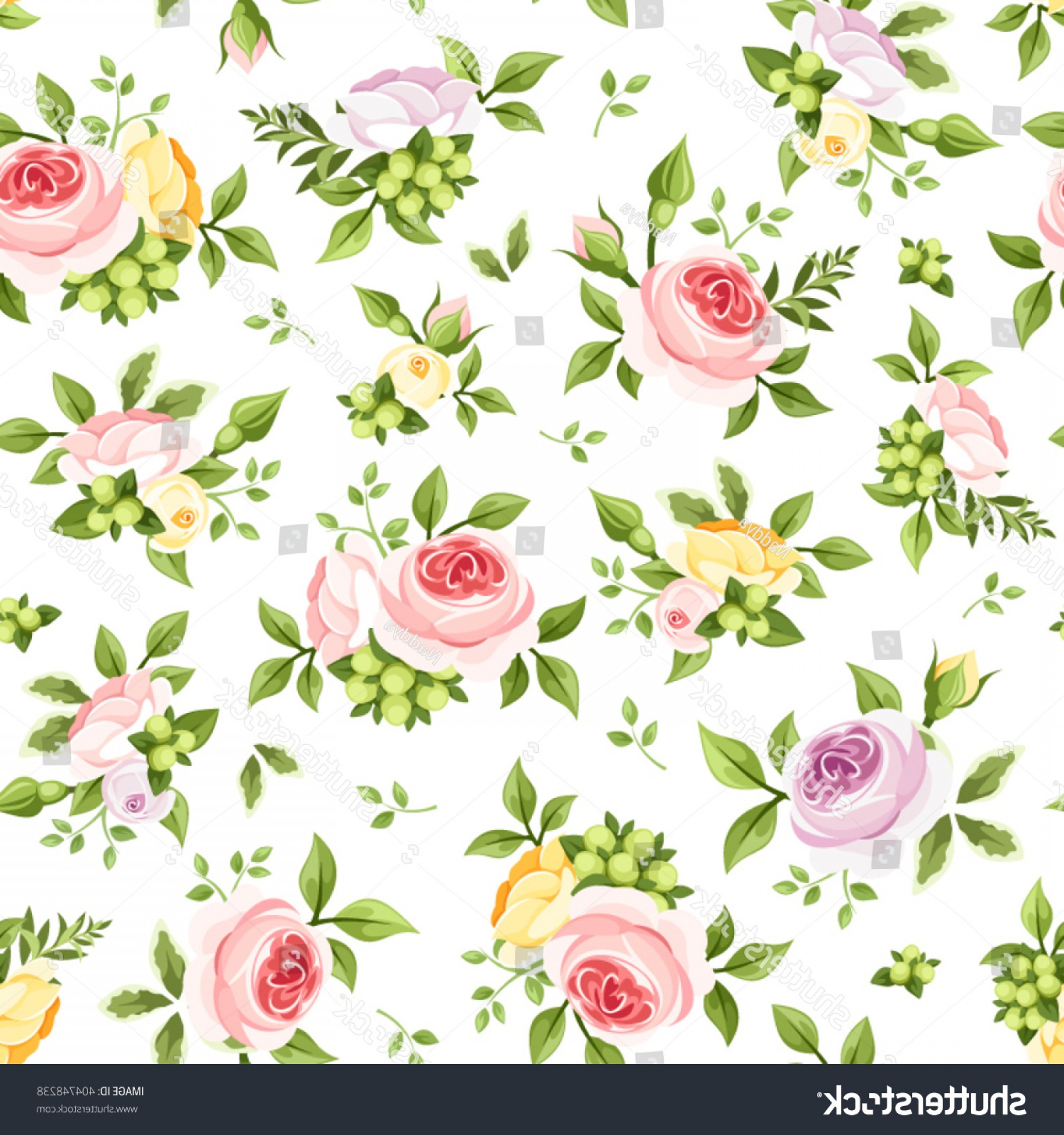 Purple Green And White Vector: Vector Seamless Pattern Pink Yellow Purple