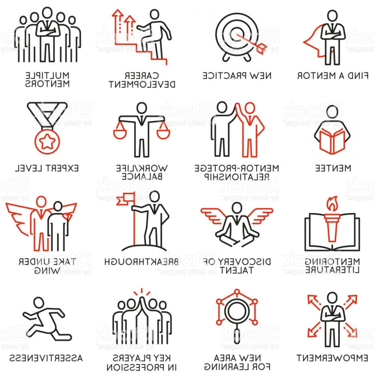 Vector Consulting Service: Vector Set Of Icons Related To Business Training Consulting Service Gm