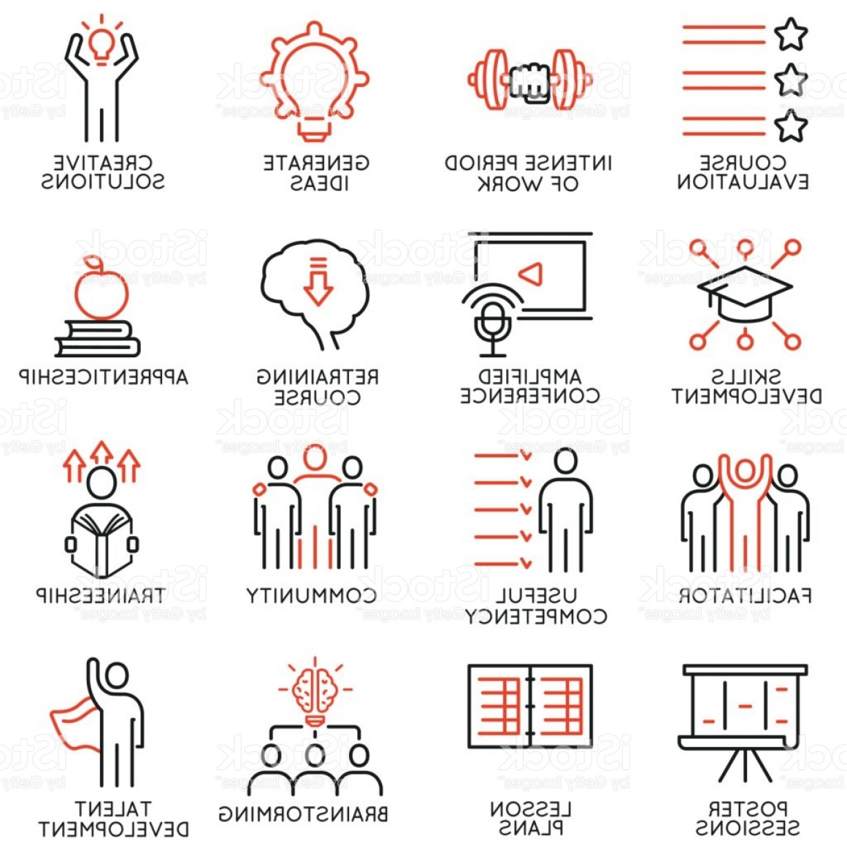 Vector Consulting Service: Vector Set Of Icons Related To Career Progress Workshop Professional Consulting Gm
