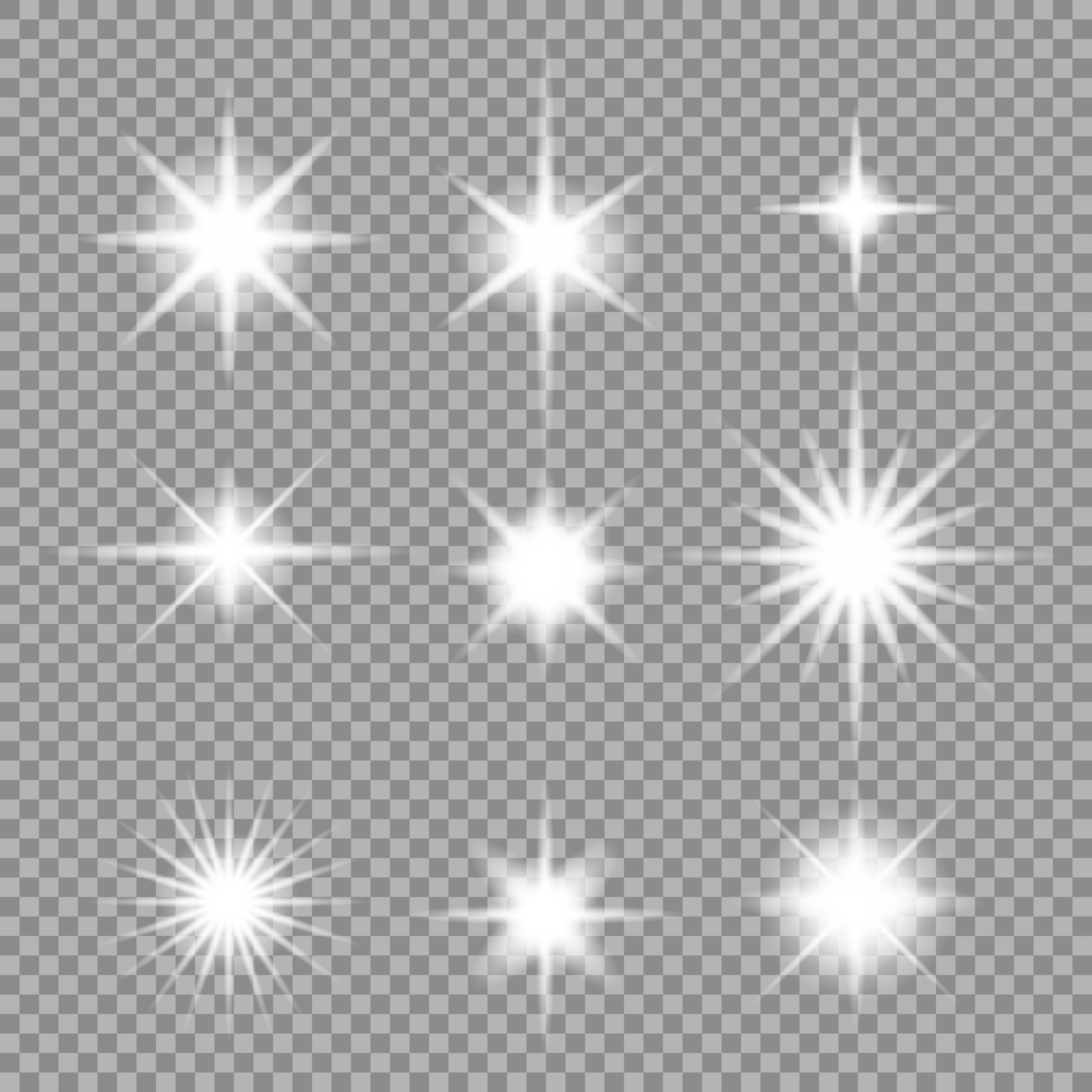 Sparkle Burst Vector: Vector Set Of Transparent Abstract Star Burst With Sparkles