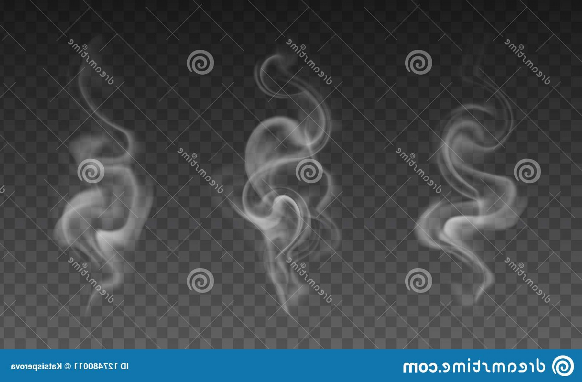 Vector Smoke Effect: Vector Set Realistic Transparent Smoke Effects Effect N Image