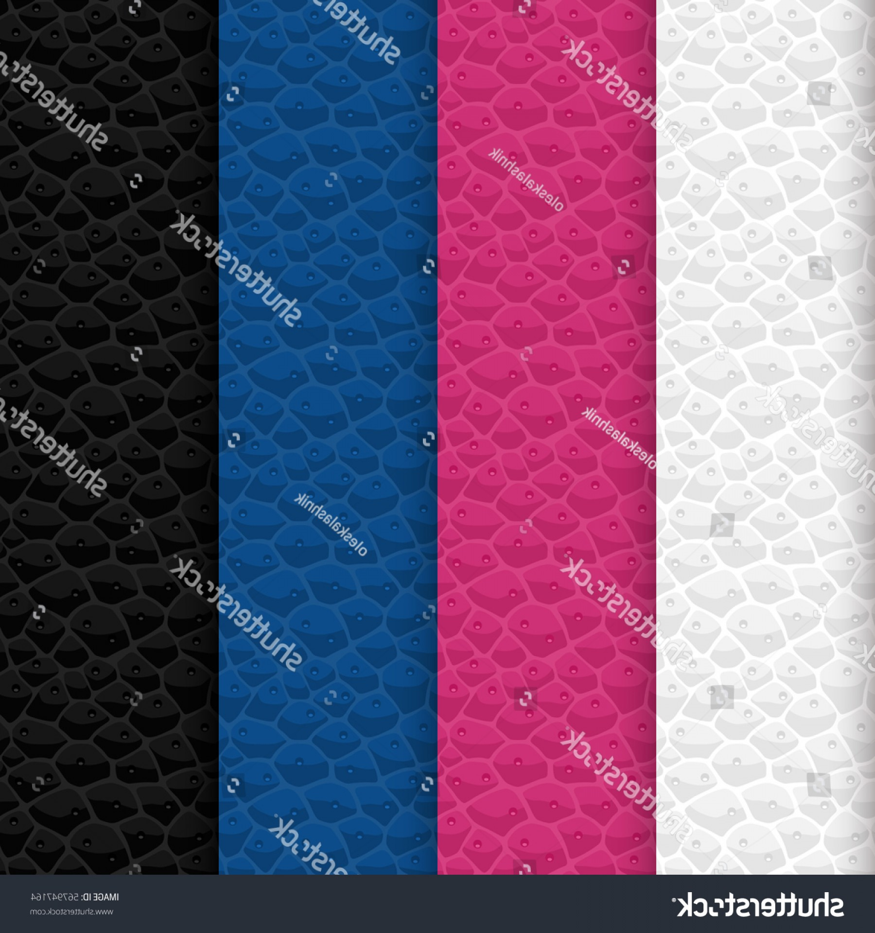 Vector Seamless Leather Pattern: Vector Set Seamless Leather Patterns Colors