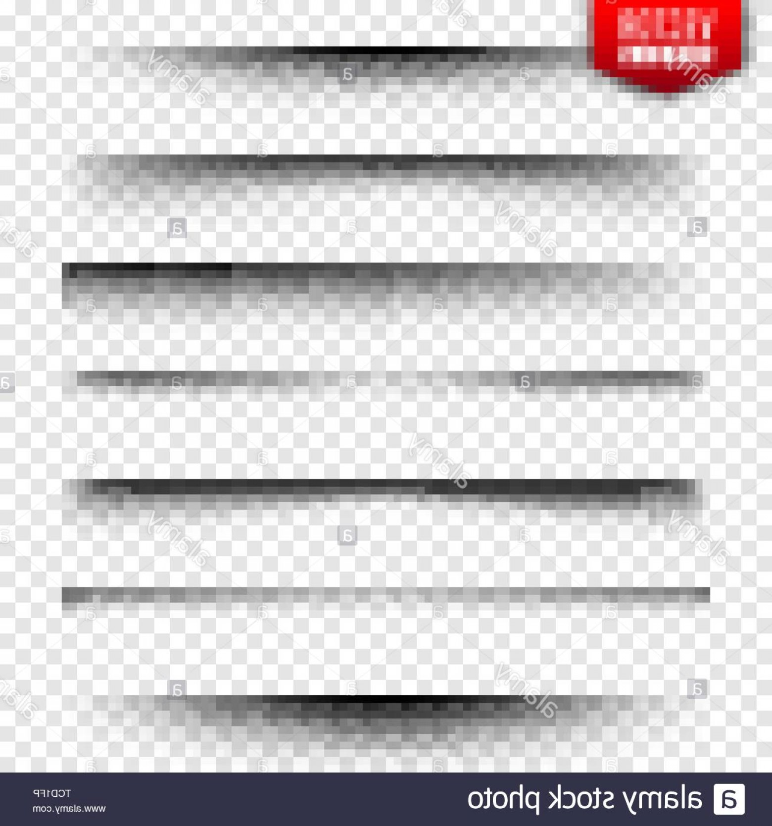 Vector Line Dividers Transparent Backgrounds: Vector Shadows Set Page Dividers On Transparent Background Realistic Isolated Shadow Vector Illustration Image