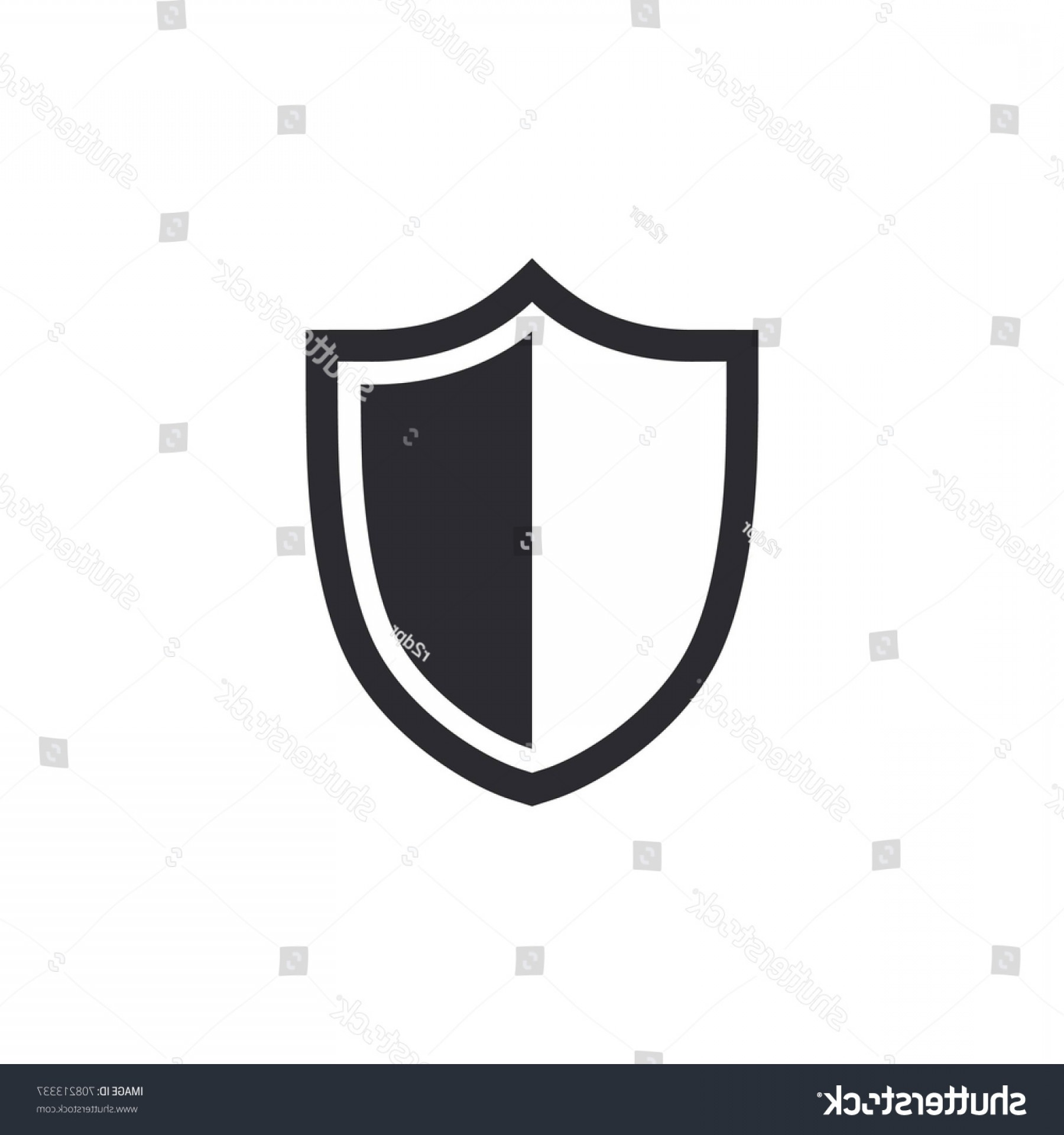 White Shield Vector: Vector Shield Icon Security Protection