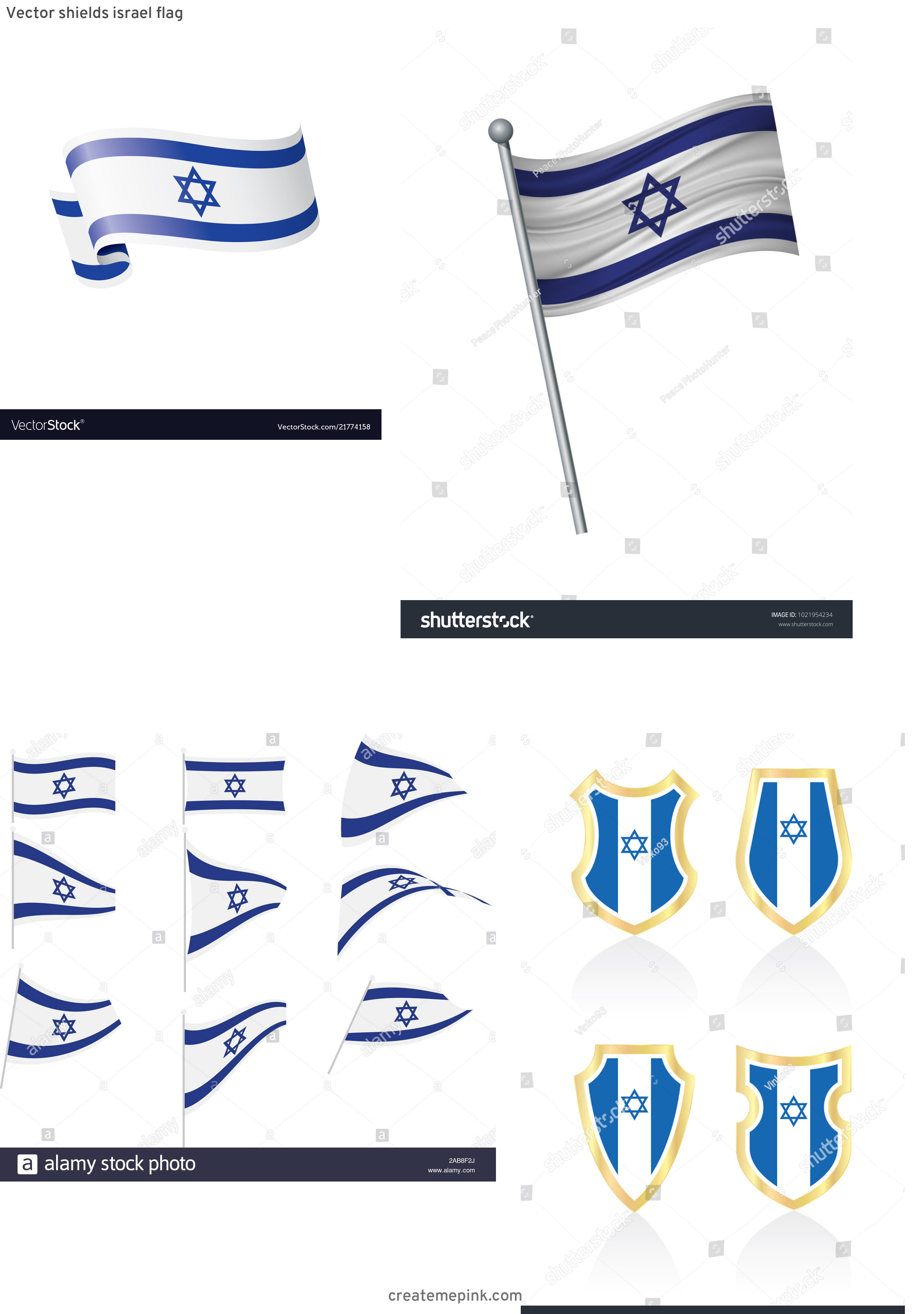 Israel And New Jersey Flag Vector: Vector Shields Israel Flag