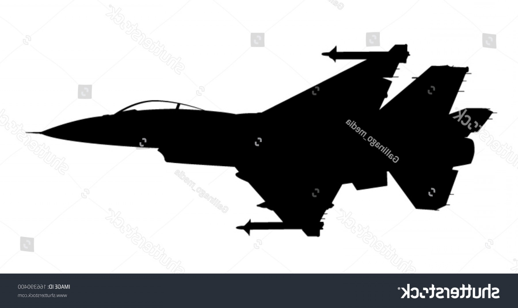 Vector Jet Fighter: Vector Silhouette Fighter Jet F Flight