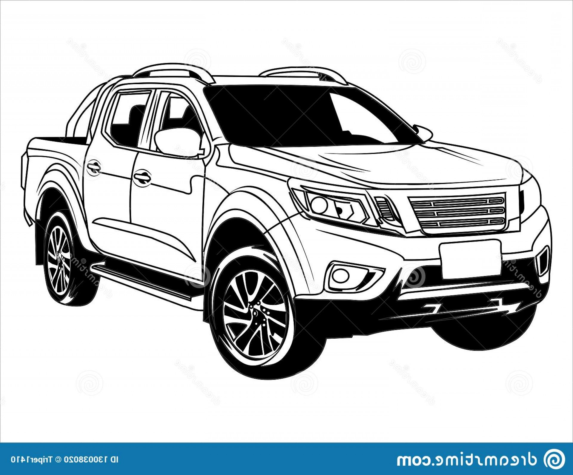 SUV Car Elevation Vector: Vector Silhouette Images Road Vehicles Outline C