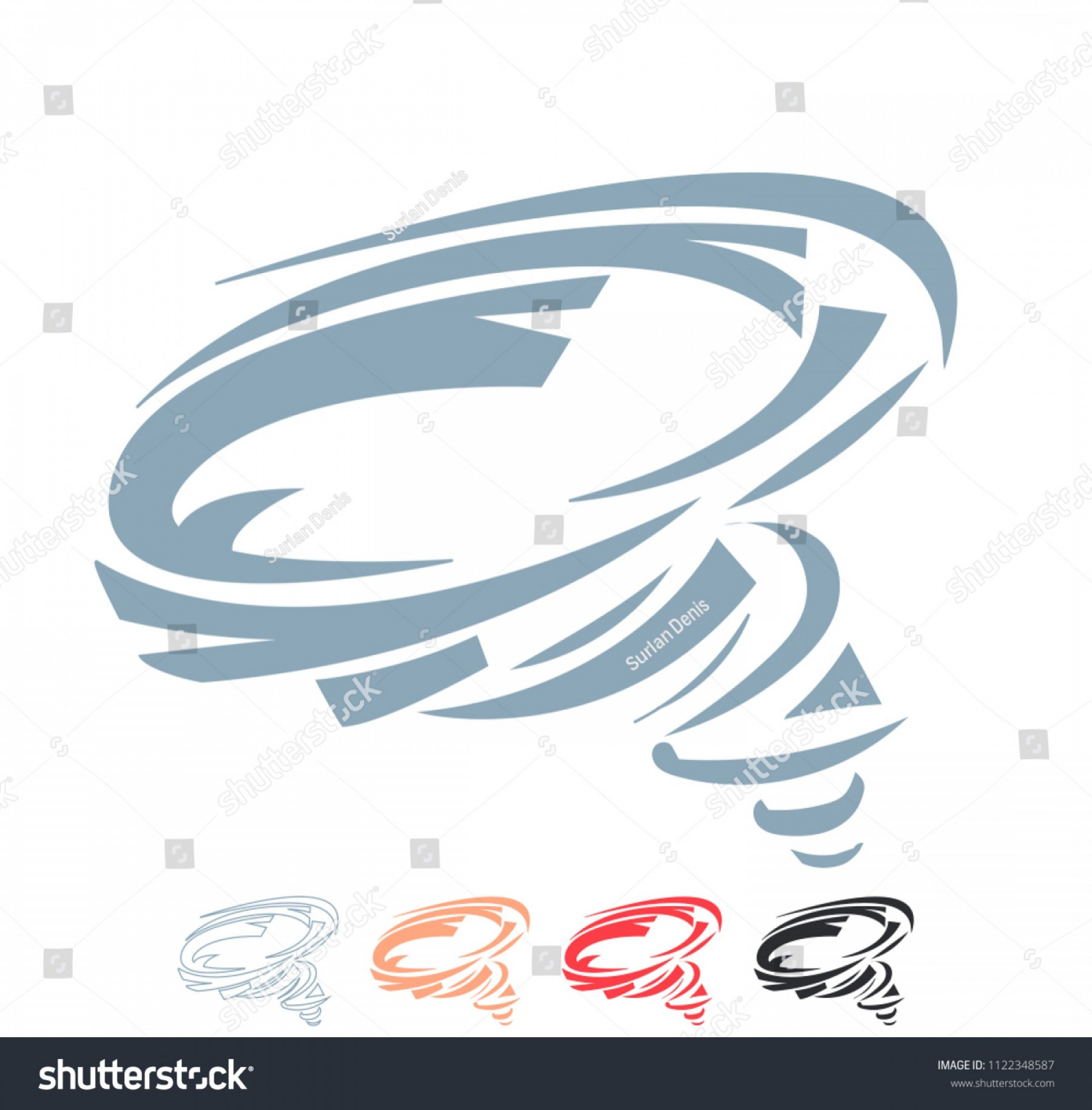 Vector Swoosh Simple Two Line: Vector Simple Wind Spin Spiral Vortex