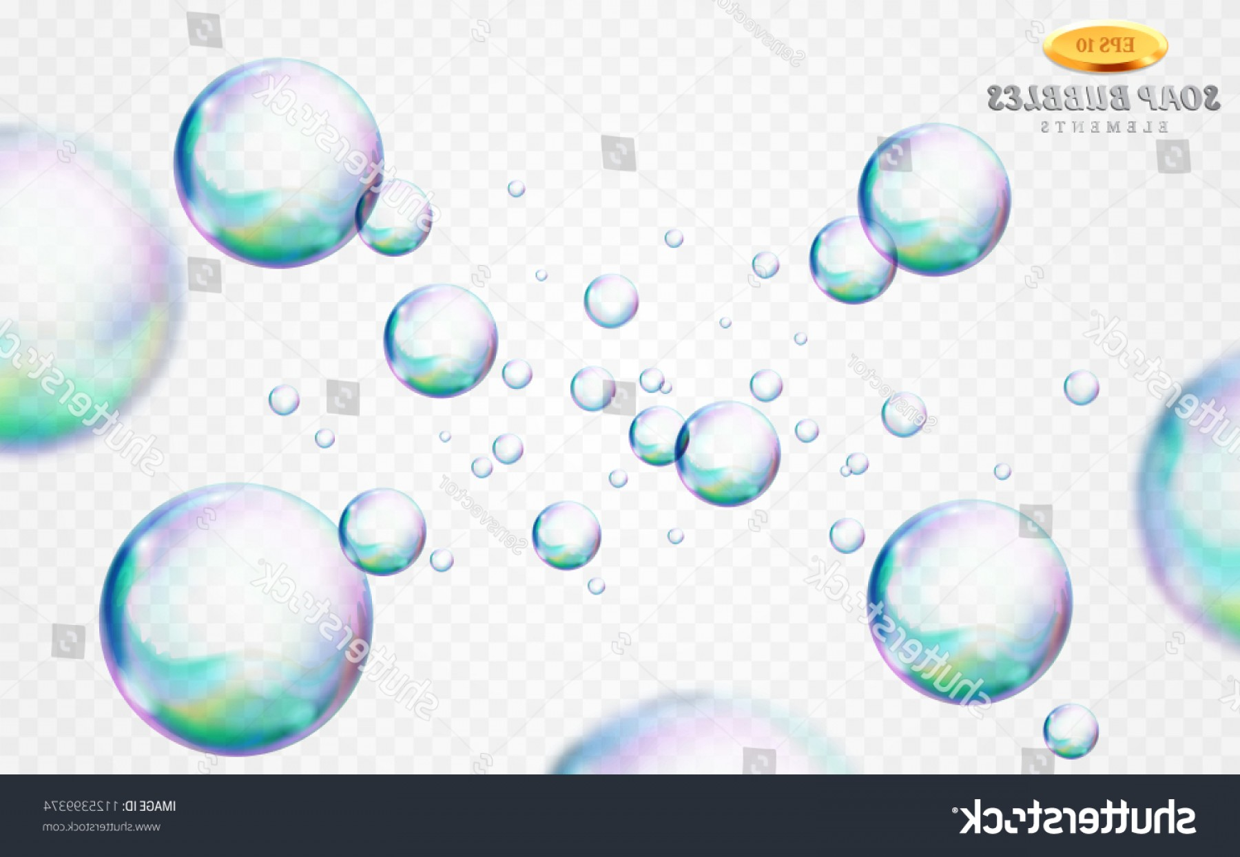 EPS Vector Soap Bubbles: Vector Soap Bubbles Set Isolated On