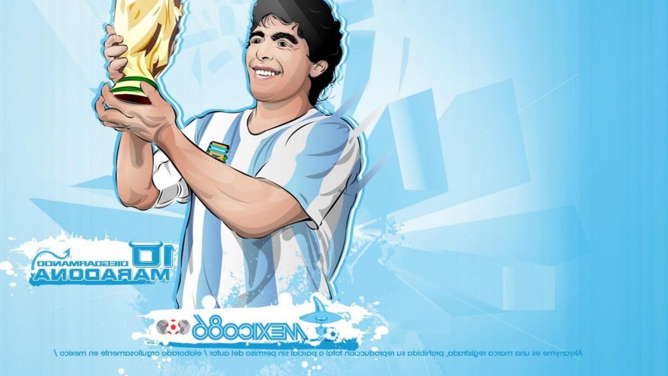 Football Vector Wallpaper: Vector Soccer Diego Maradona Football Player Wallpaper