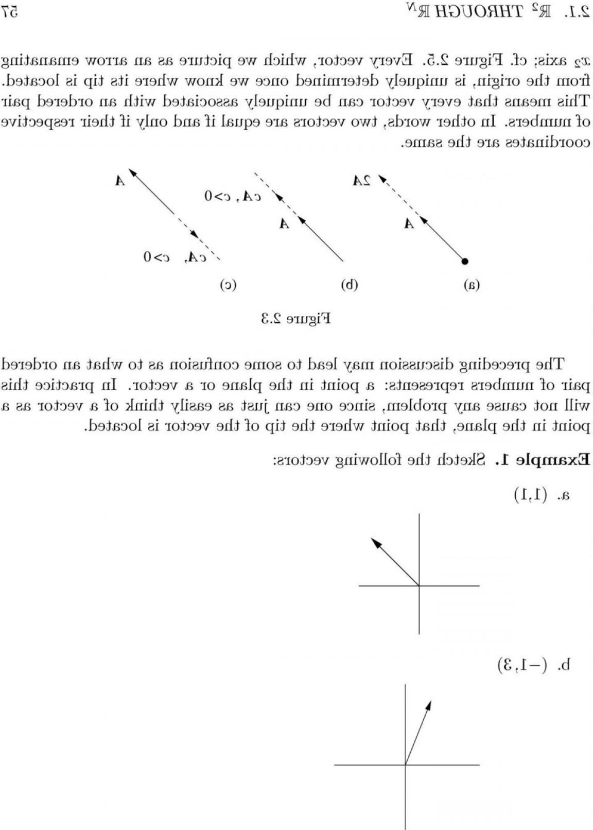 Ordered Pair Notation With Vectors: Vector Spaces Chapter R Through R N