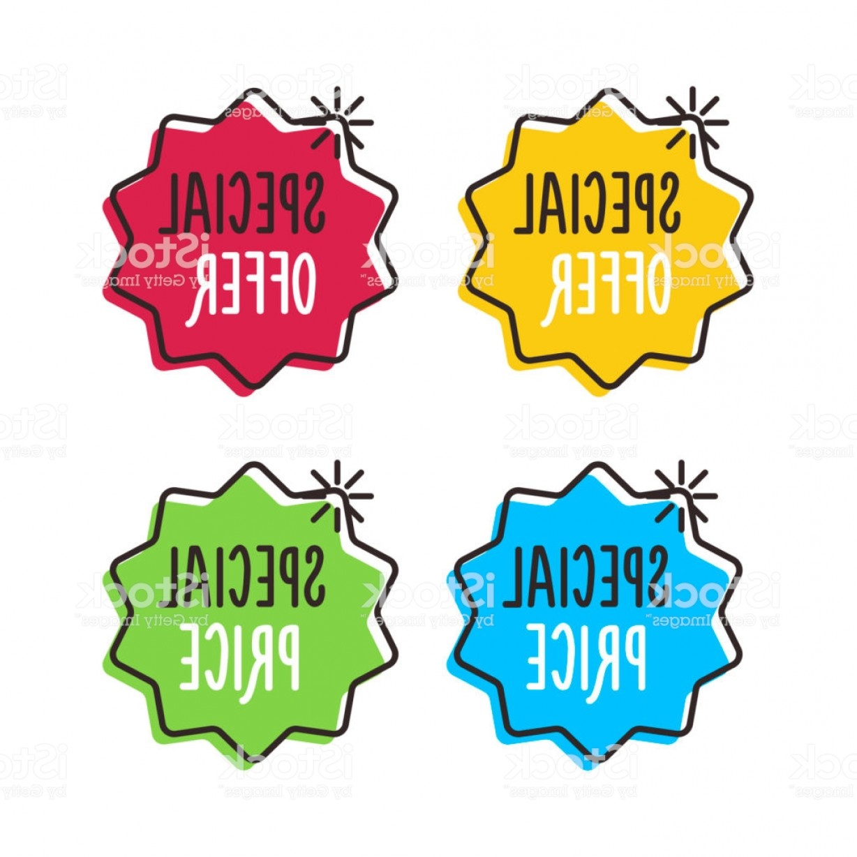 Vector Special Design: Vector Special Offer And Special Price Trendy Geometric Set Icon Design Easily Gm