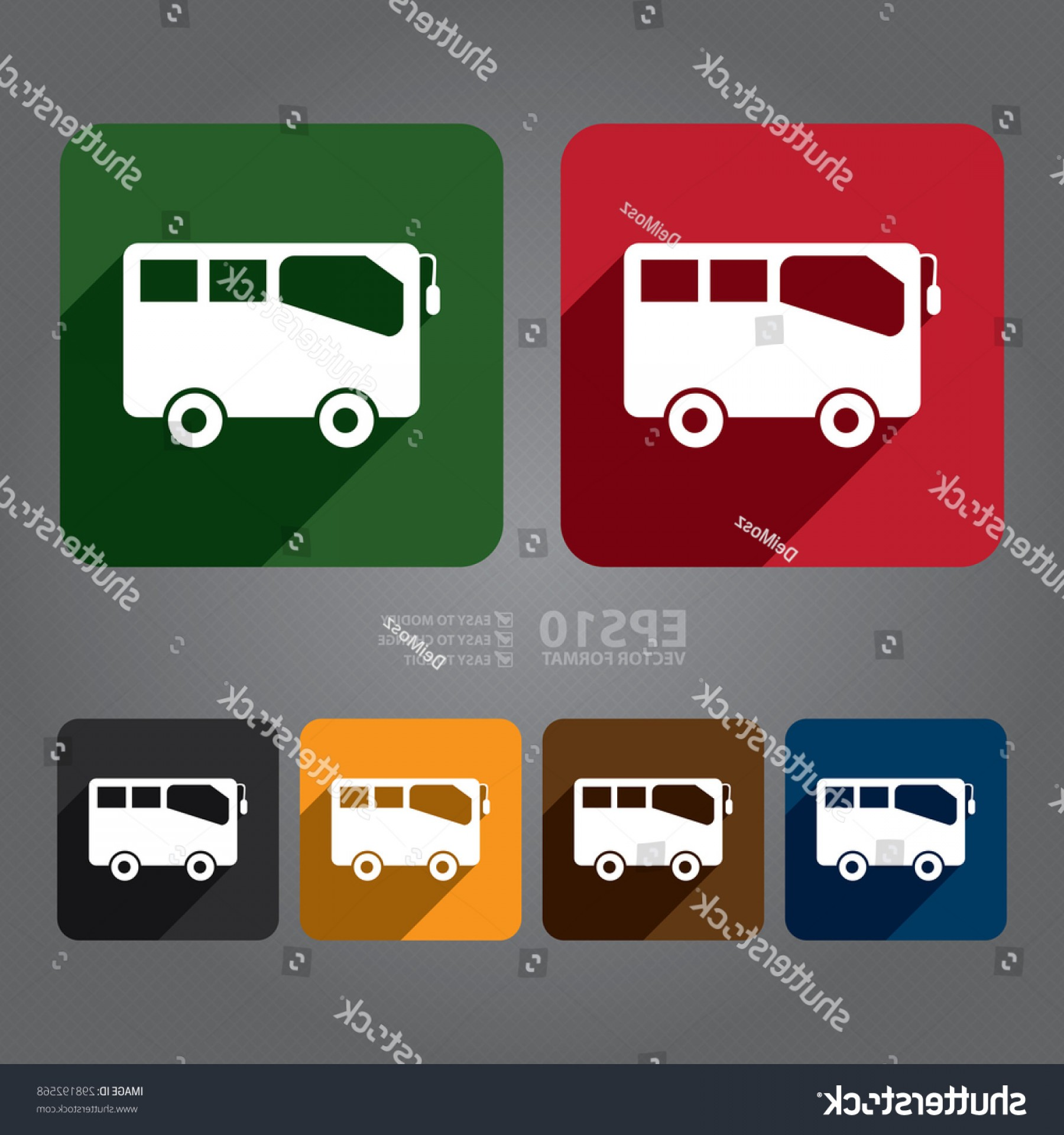 Pic Bus Vector Format: Vector Square Bus School Stop Station