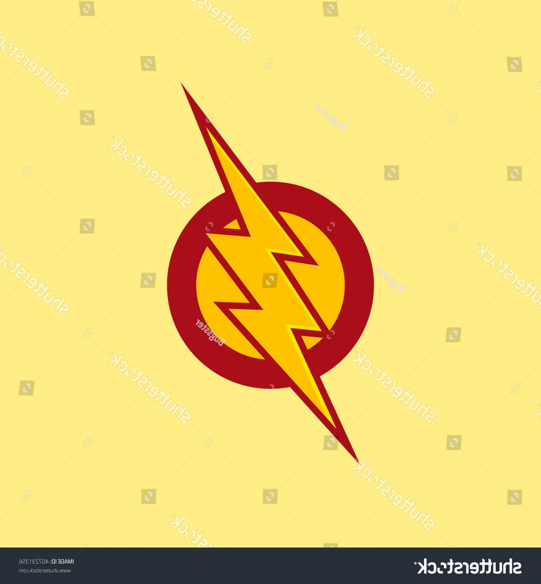Flash Superhero Logo Vector: Vector Superhero Symbol Flash Red Color