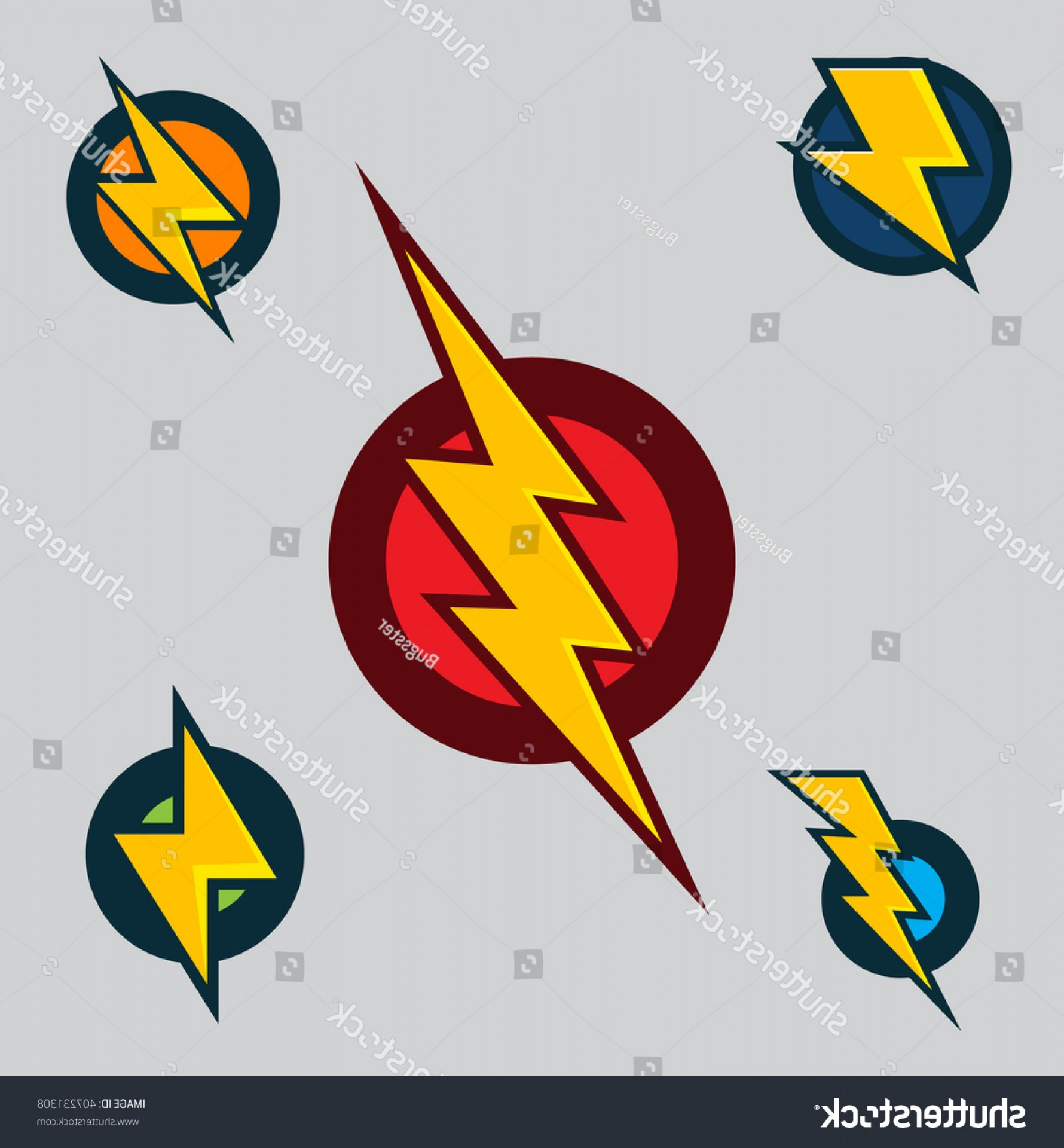Flash Superhero Logo Vector: Vector Superhero Symbols Set Flash