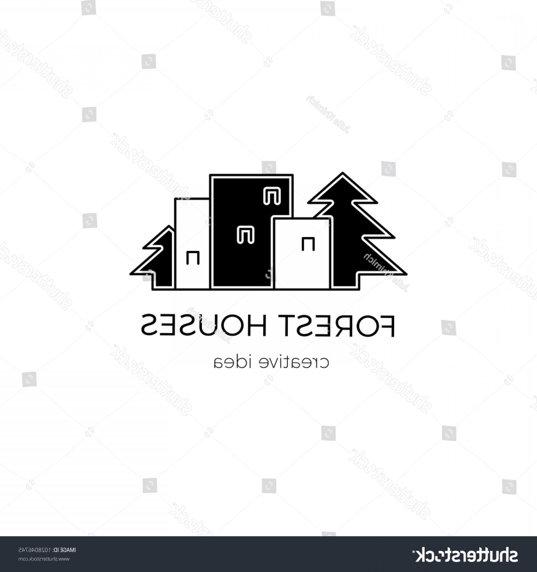 Construction Logos Vector Black And White: Vector Thin Line Icon Construction Logo