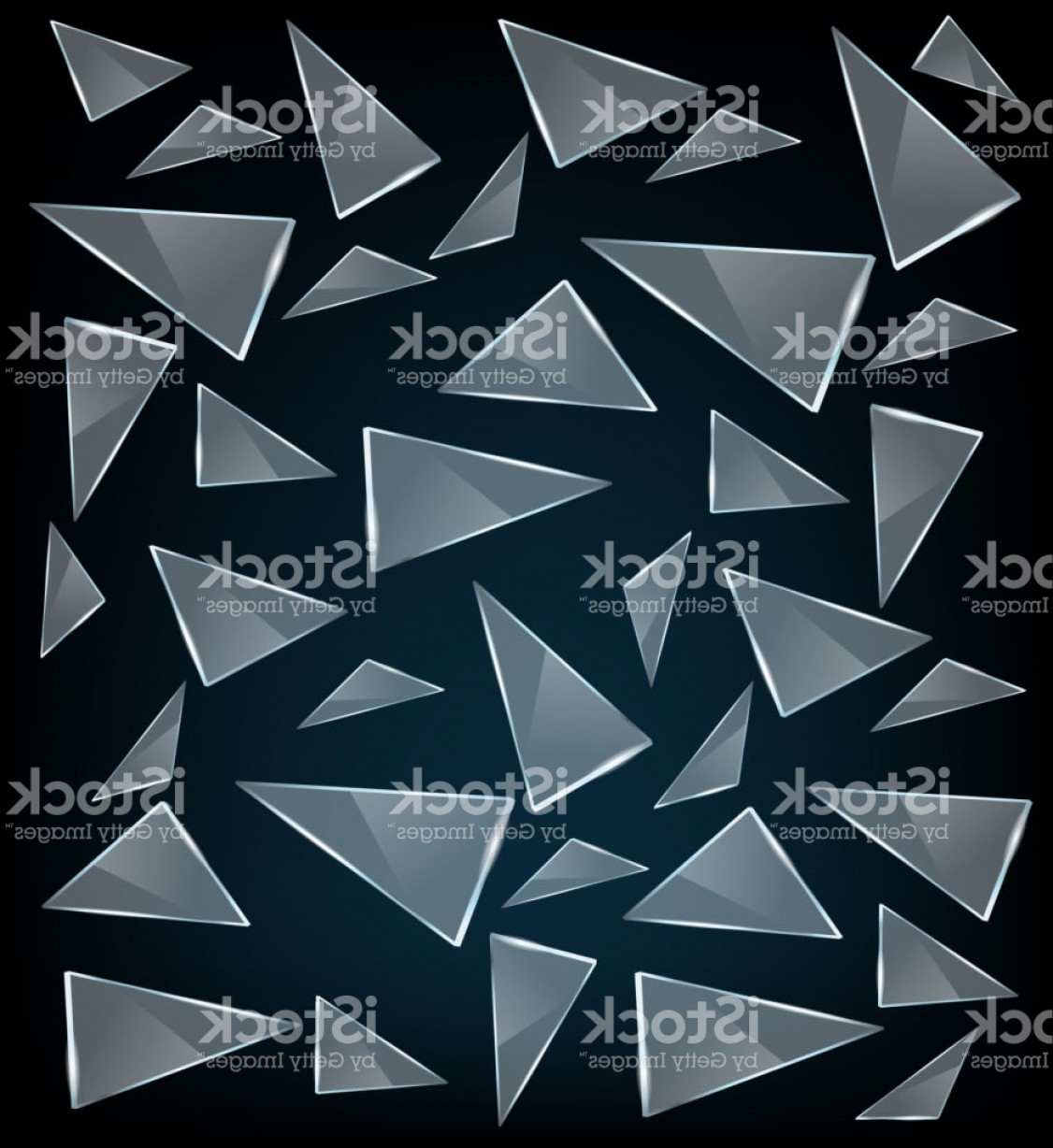 Vector Broken Pieces: Vector Transparent Broken Glass With Sharp Pieces Abstract Glass Surface Background Gm