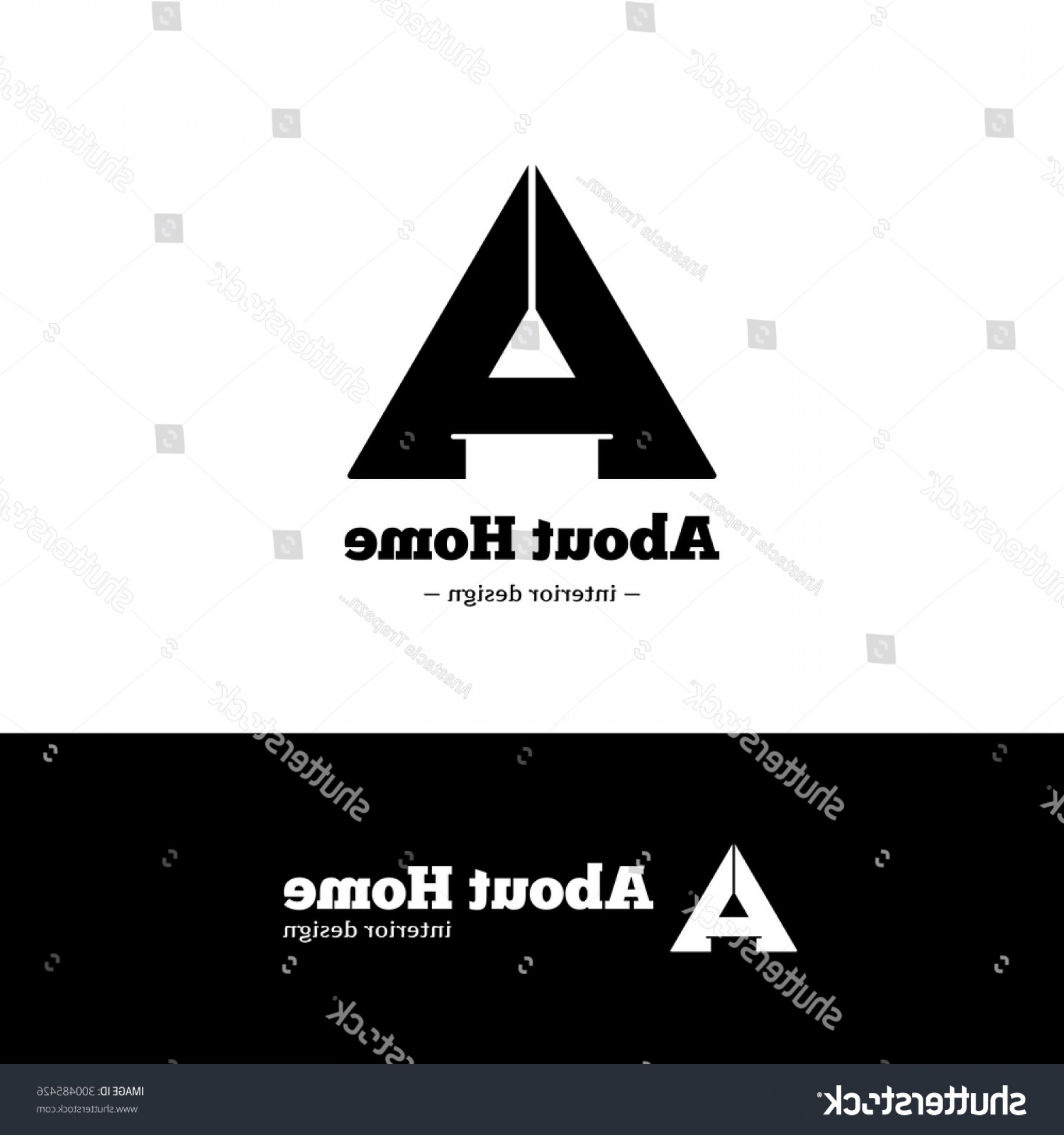 Black And White Negative Vector: Vector Trendy Black White Minimalistic Negative