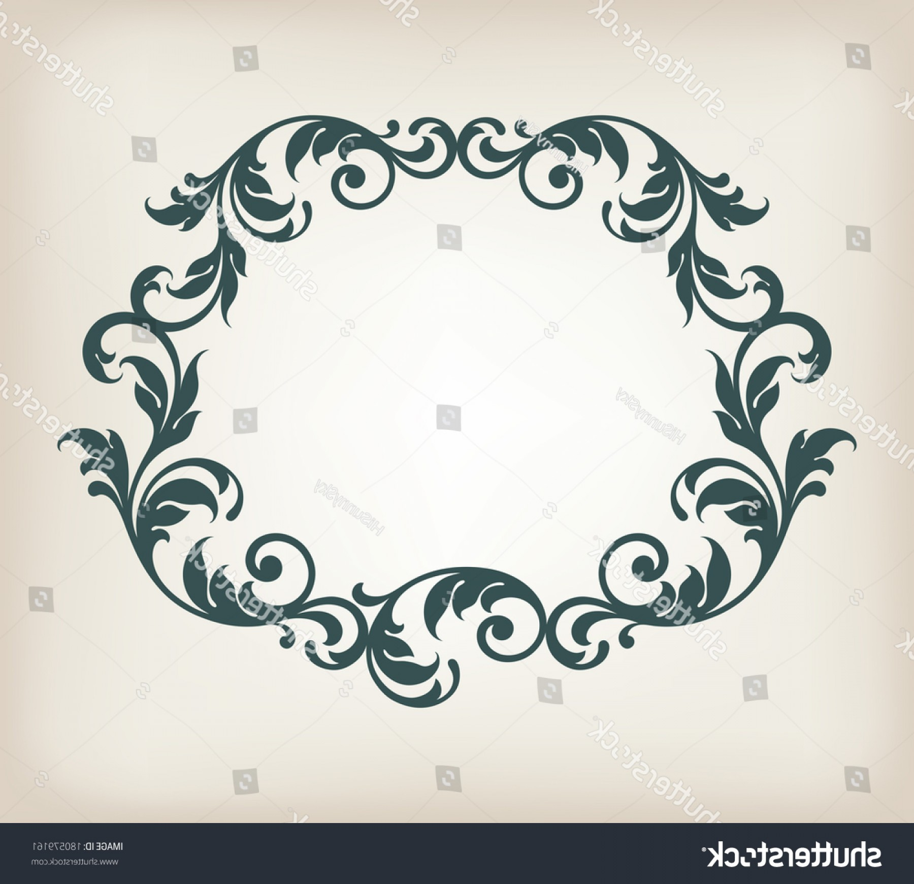 Filigree Oval Frame Vector: Vector Vintage Border Frame Filigree Retro