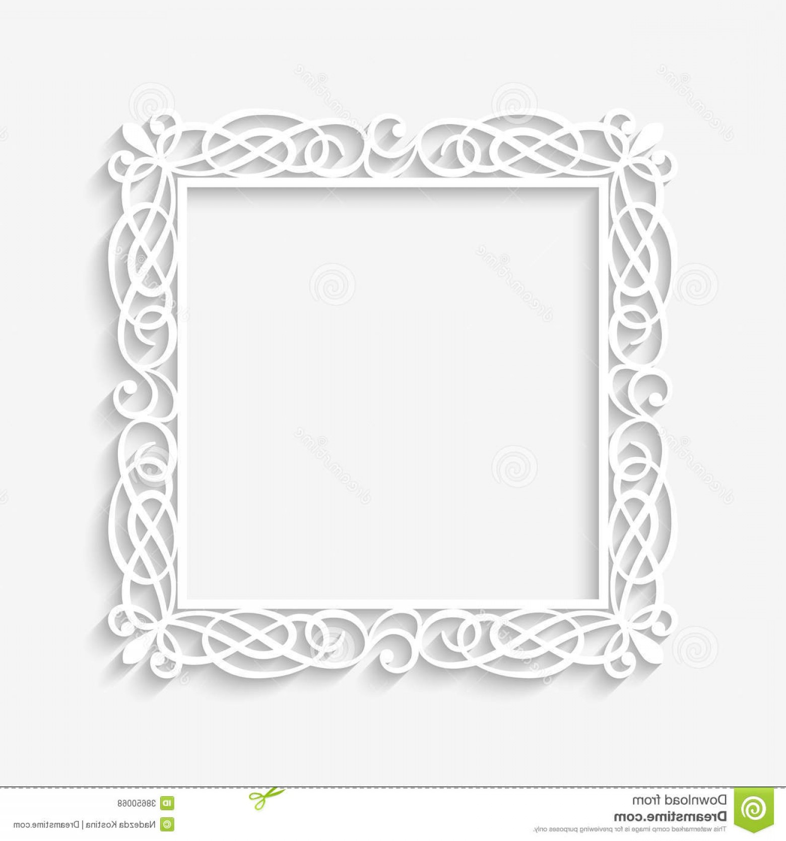 Vector Ornate Vintage Frame Blank: Vector Vintage White Frame Background Illustration