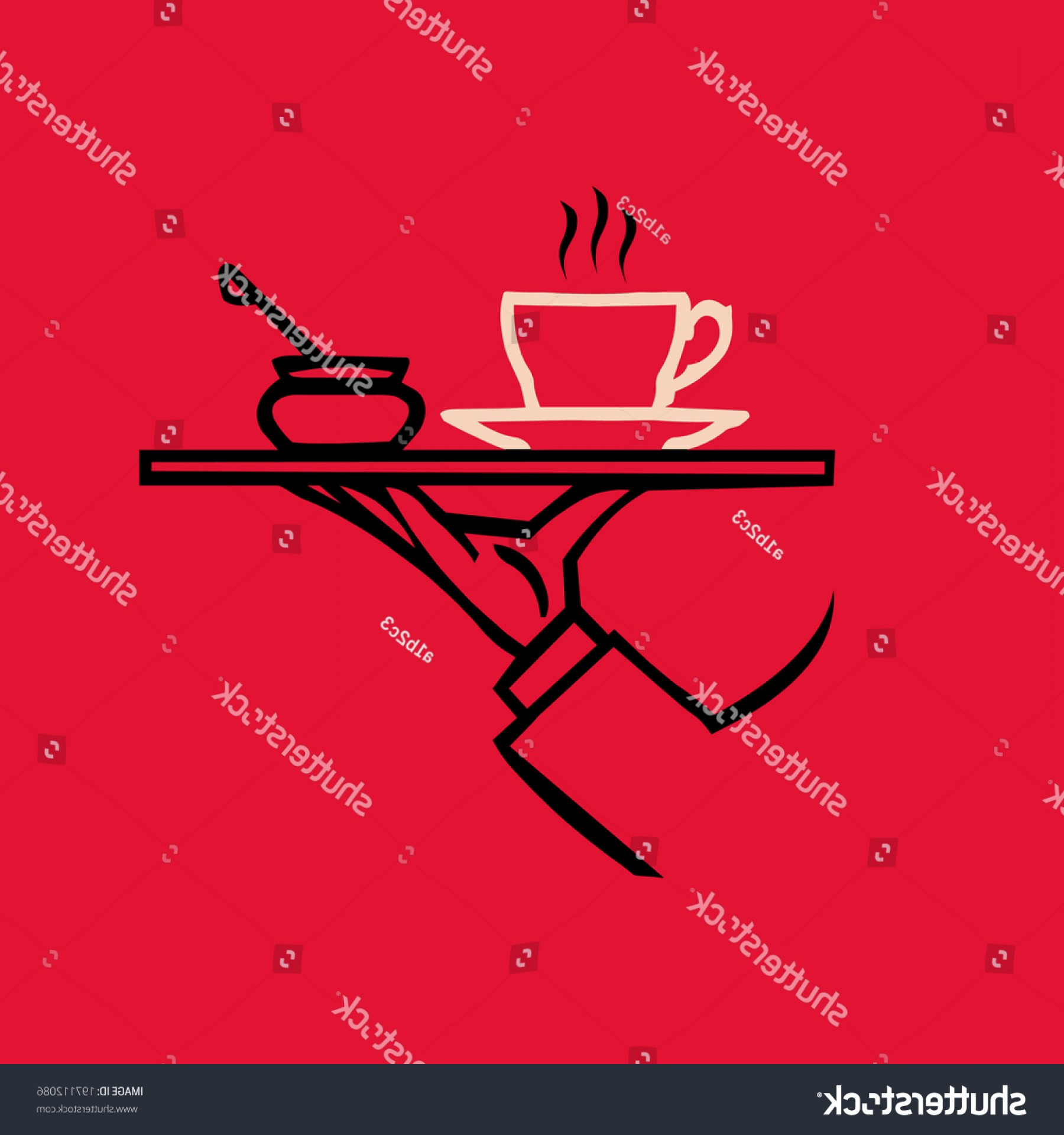 Vector Waiter Coffee: Vector Waiters Hand Tray Tea Coffee