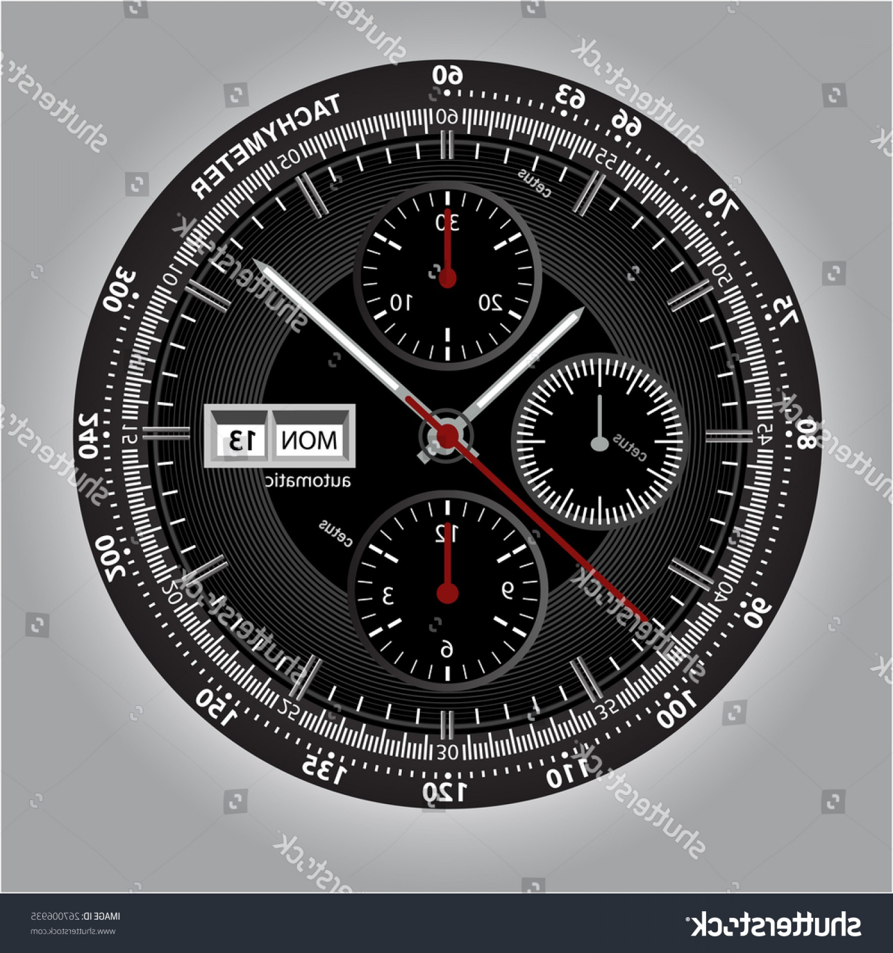 Watch Face Vector: Vector Watch Handwatch Illustration Image Wrist