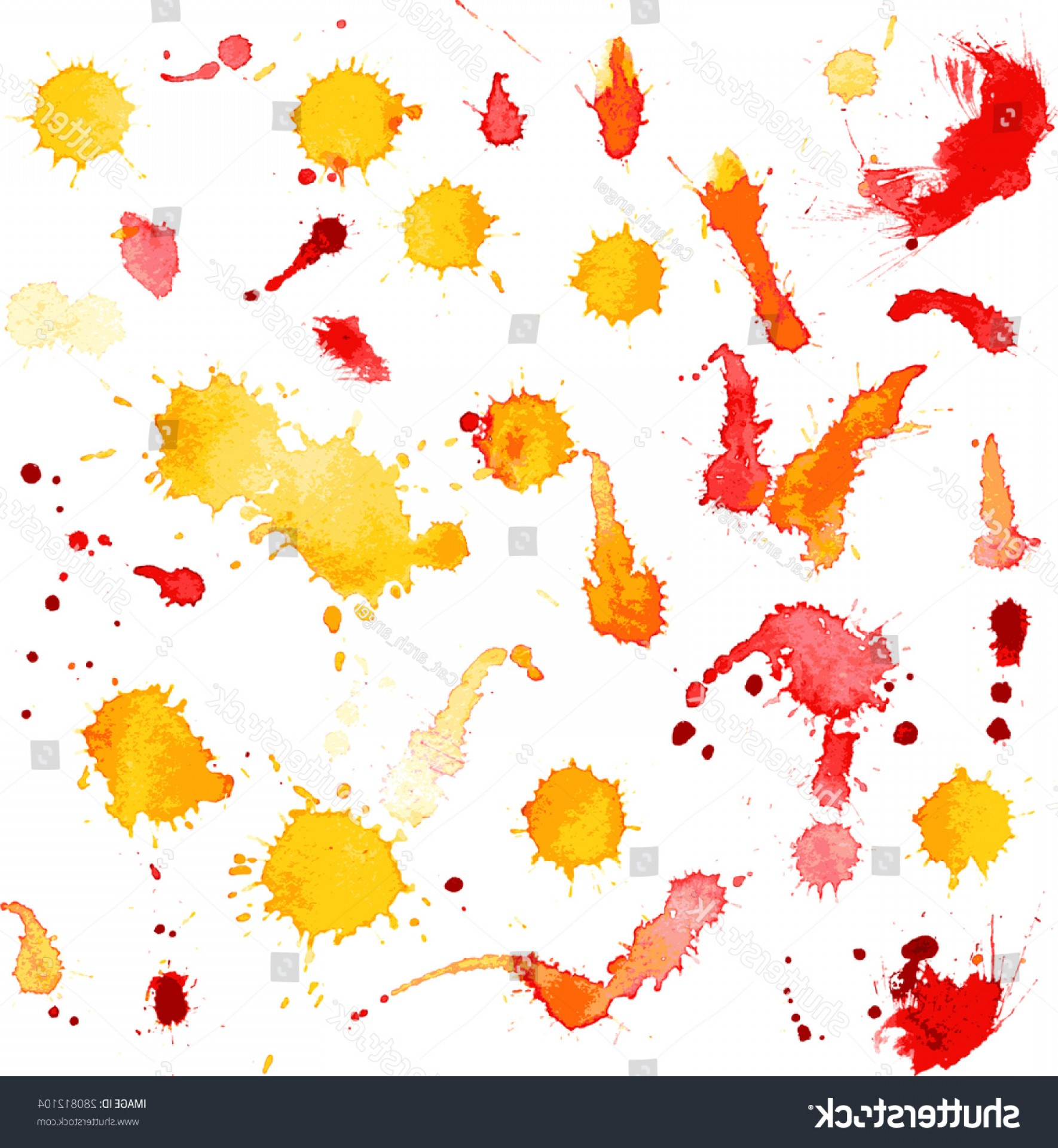 Watercolor Vector Free Designs: Vector Watercolor Background Isolated Blots Splashes
