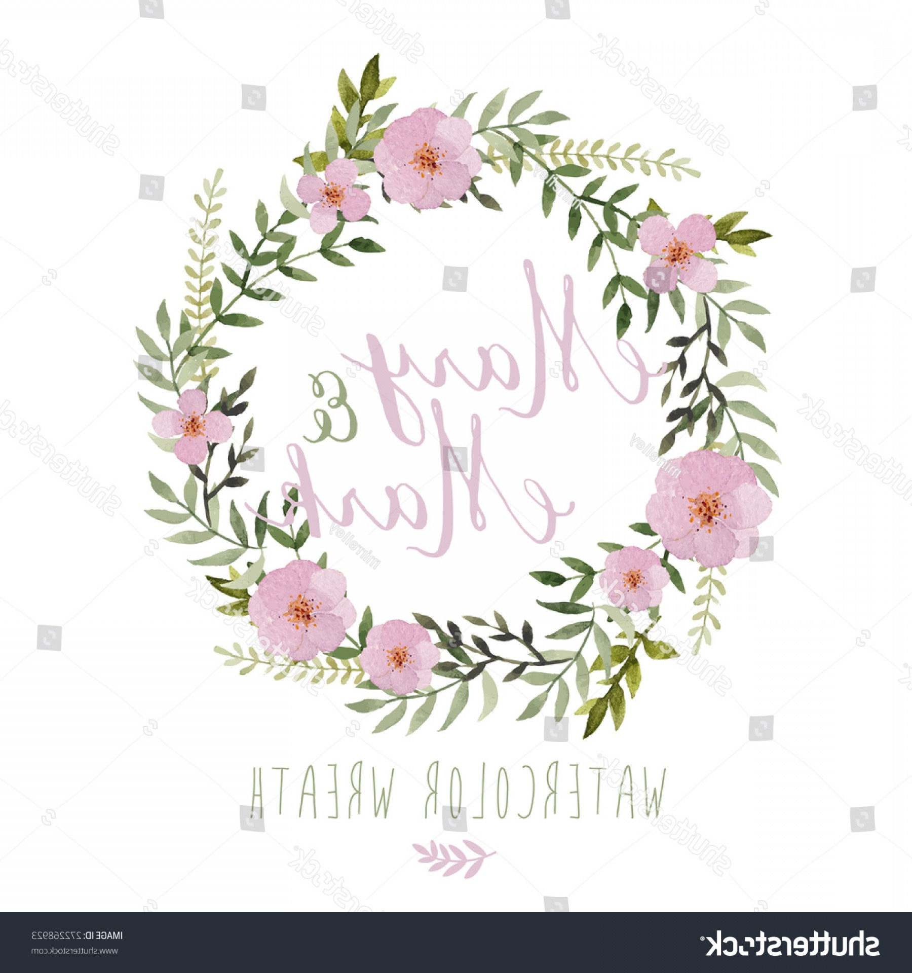 Summer Wreath Free Vector Watercolor: Vector Watercolor Colorful Circular Floral Wreaths