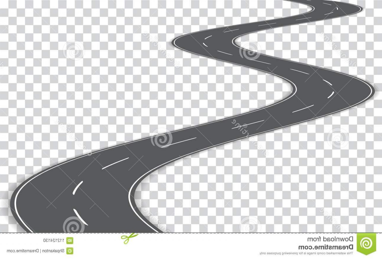 Transparent Curved Road Vector: Vector Winding Road Transparent Background Eps E Image