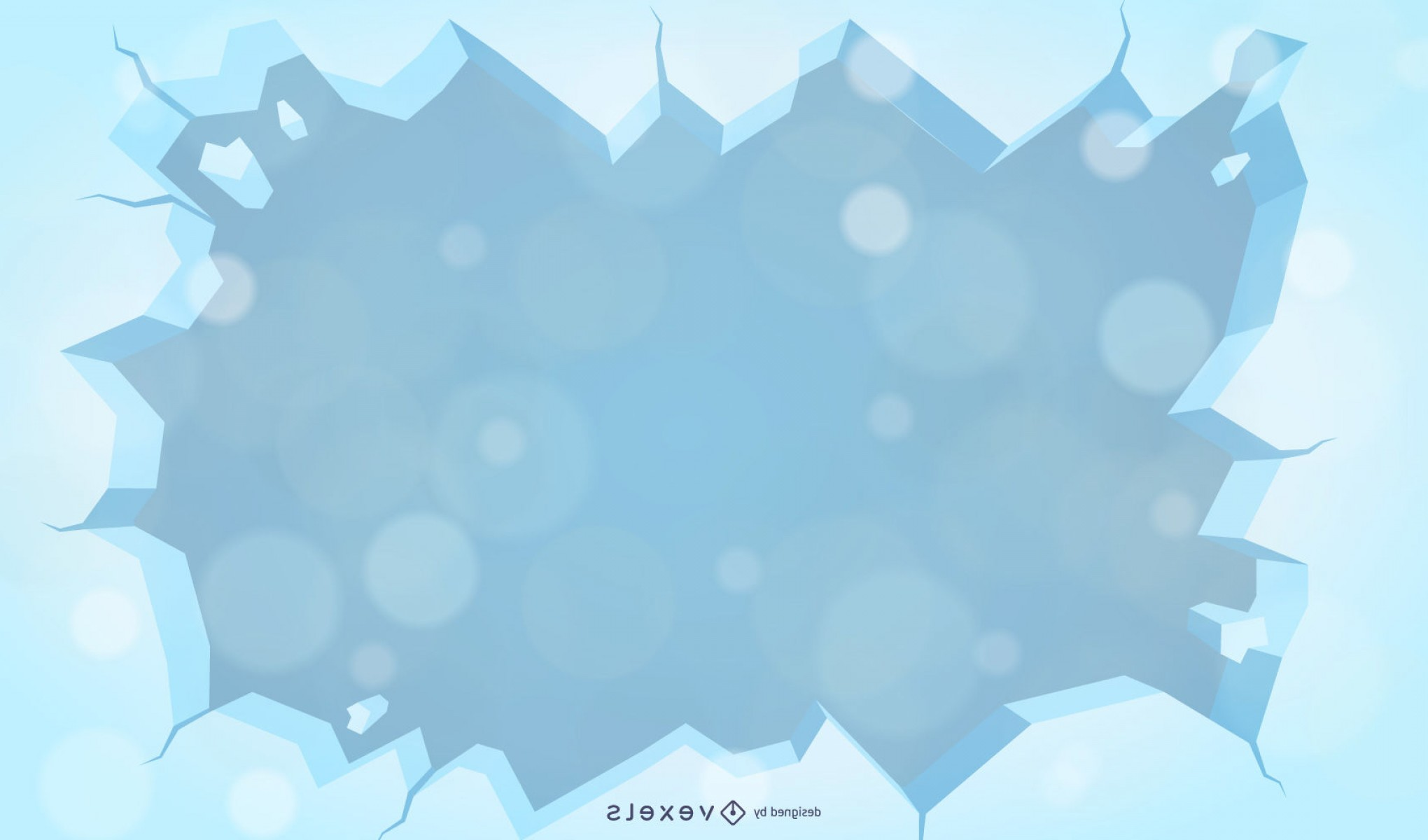 Frost Border Vector: Vector Winter Background With Snow And Frost