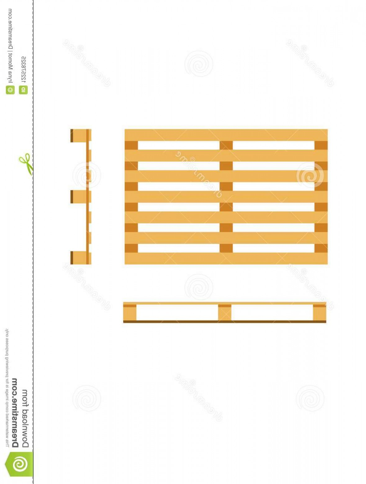 Pallet Vector Graphic: Vector Wooden Pallet Vector Wooden Pallet Drawing Draft Industry Image