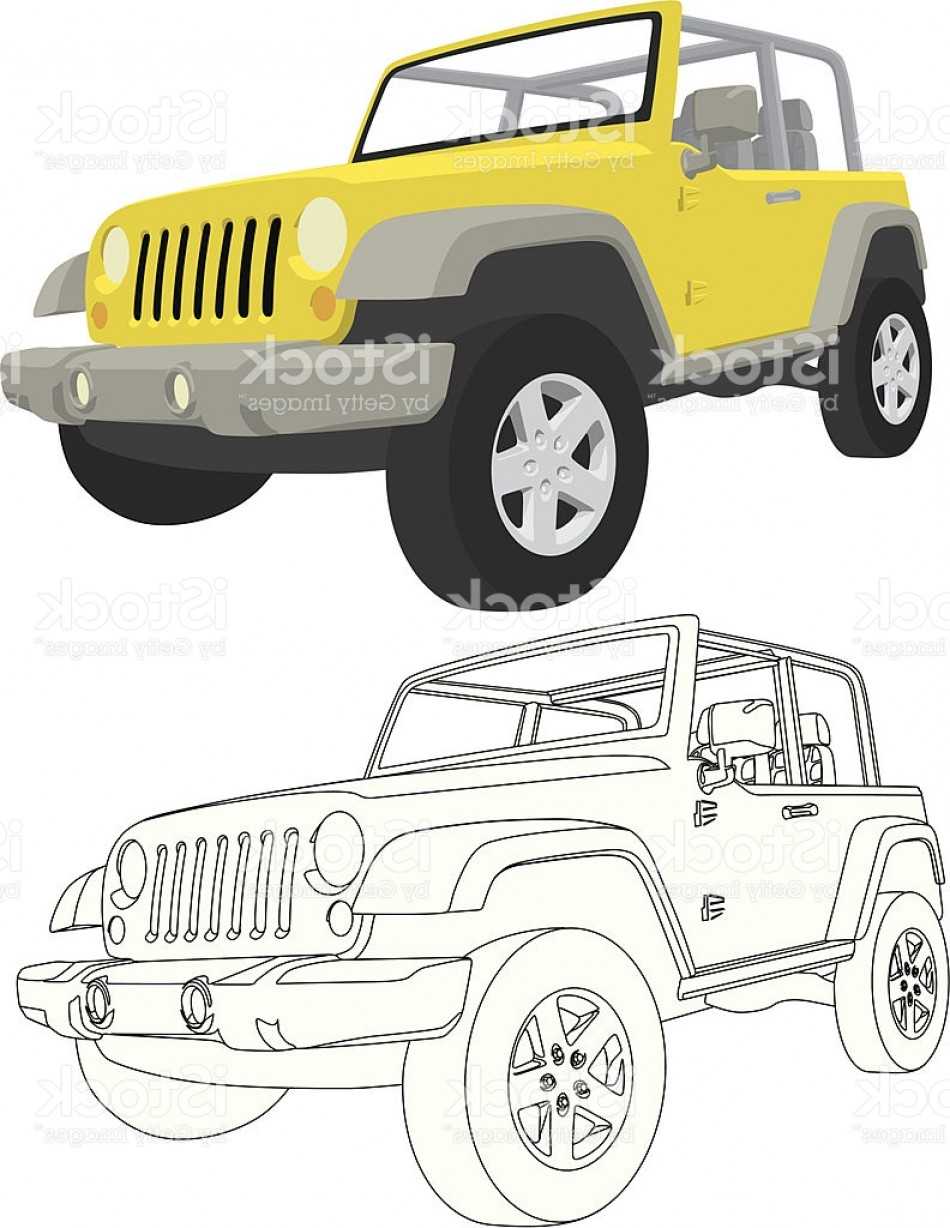 Jeep Off-Road Vector Art: Vector X Jeep Wrangler Gm