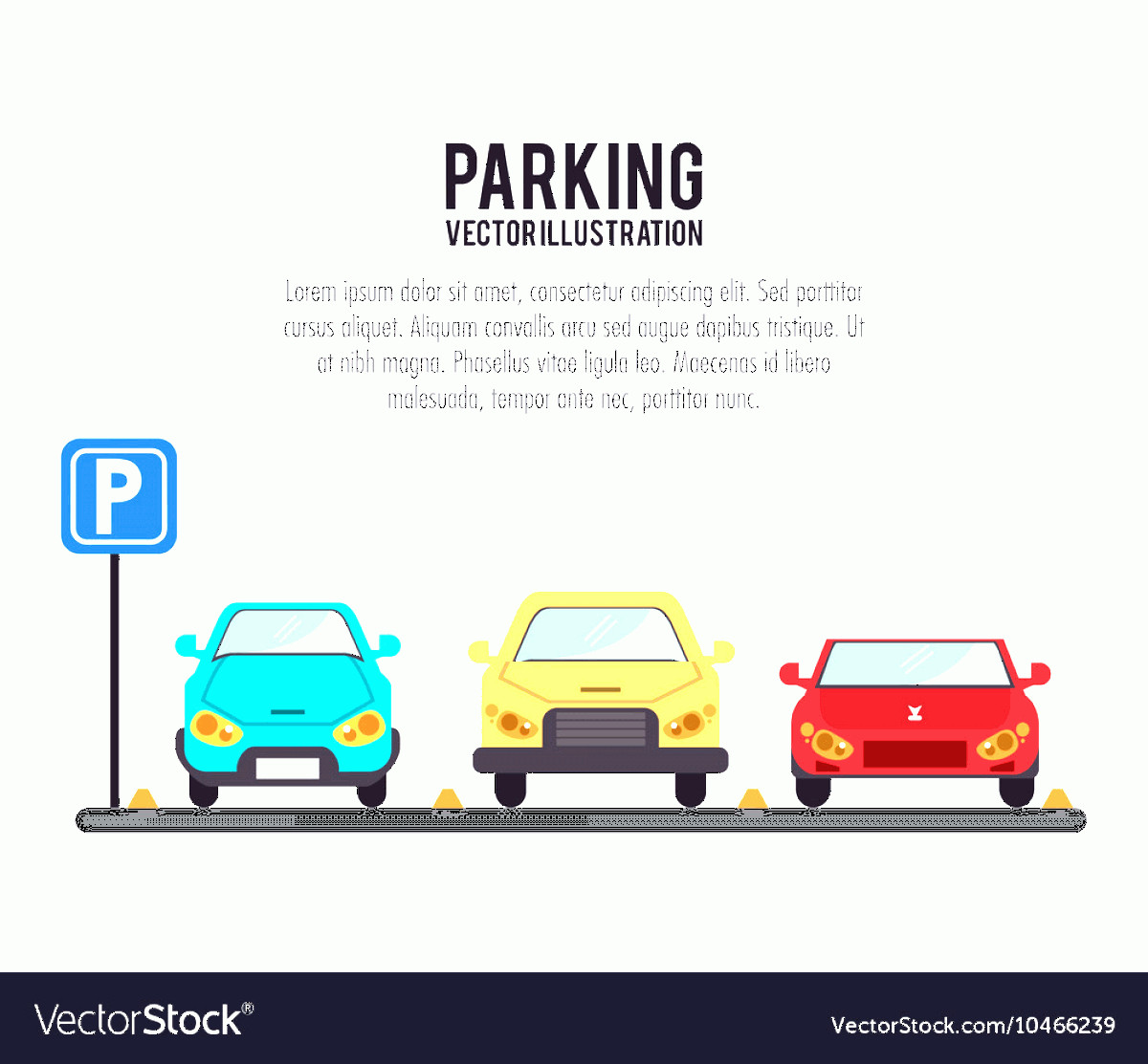 Vector Car: Vehicle Parking Zone Design Vector