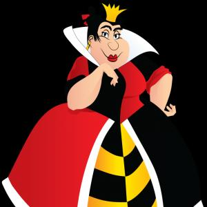 Alice Queen Of Hearts Vector: Alice In Wonderland Queen Of Hearts Clipart