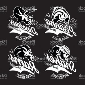 Gang Vector Graphics: Vintage American Furious Piranha Dinosaur Snake Ram Bikers Gang Club Tee Print Gm