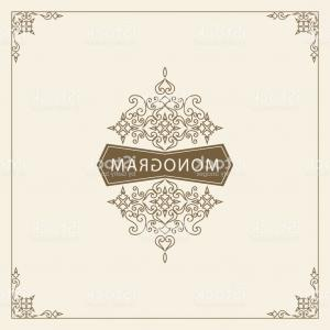 Vector Flourish Backgrounds: Vintage Ornament Greeting Card Vector Template Retro Luxury Invitation Royal Gm