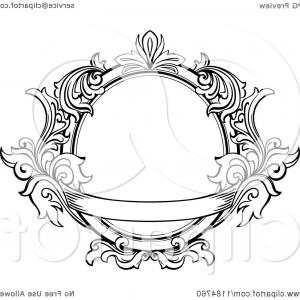 Vintage Ornate Vectors: Vintage Ornate Oval Frame With Leaves And A Banner