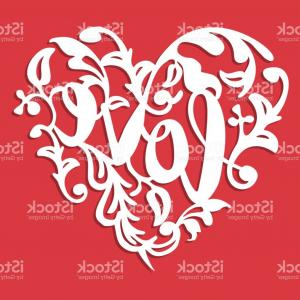 Love Heart Swirl Vector: Stock Illustration Love Seamless Pattern Red Hearts