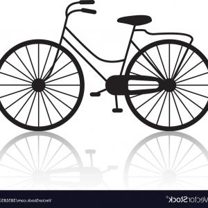 Free Vectors Bycicle: Vintage Retro Bicycle Silhouette Icon Vector