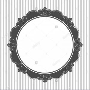 Simple Round Decorative Frame Vector: Vintage Retro Round Openwork Frame Decorative Wallpaper Vector Illustration Image